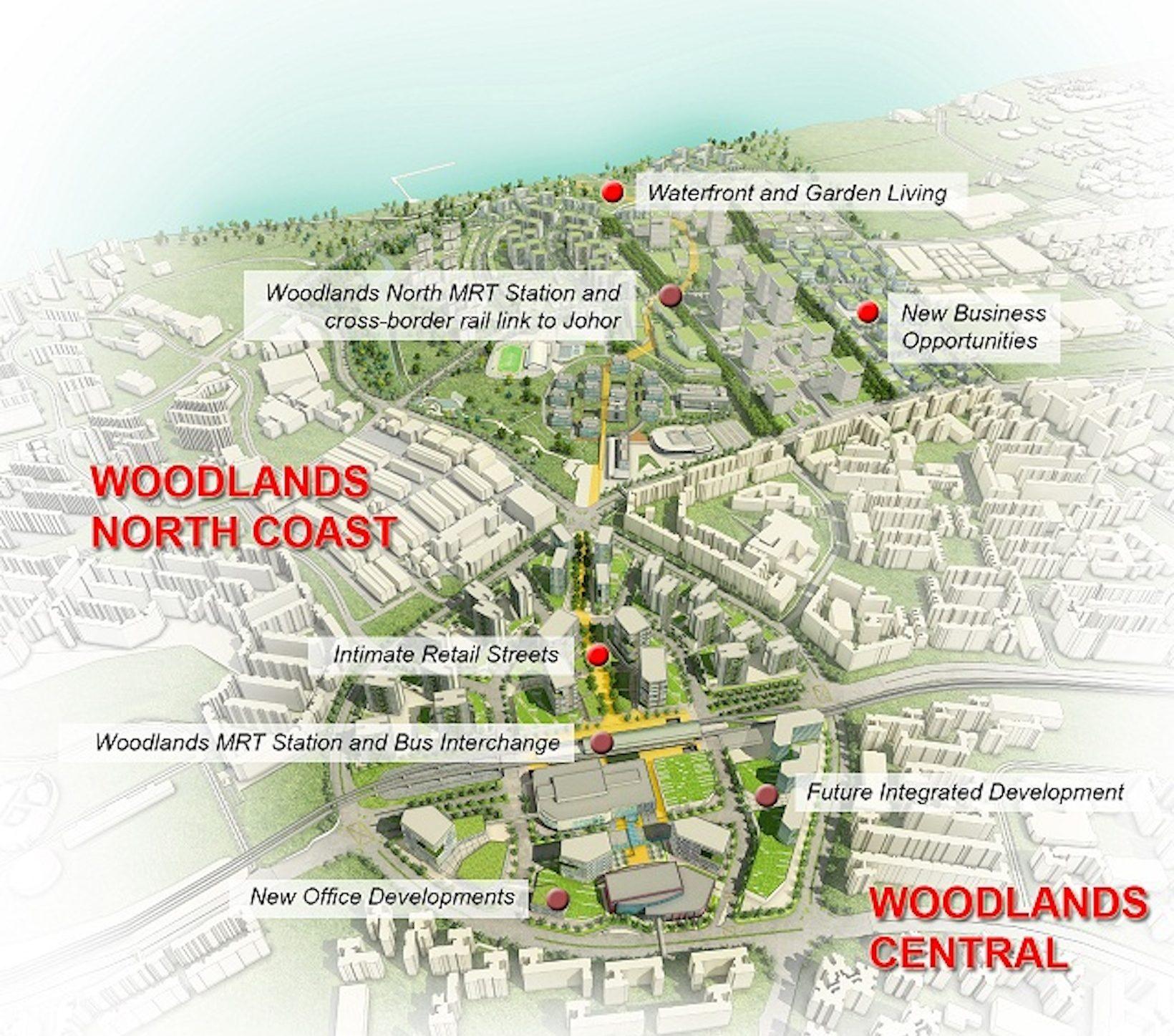 兀兰区域中心 Woodlands Regional Centre URA mater plan