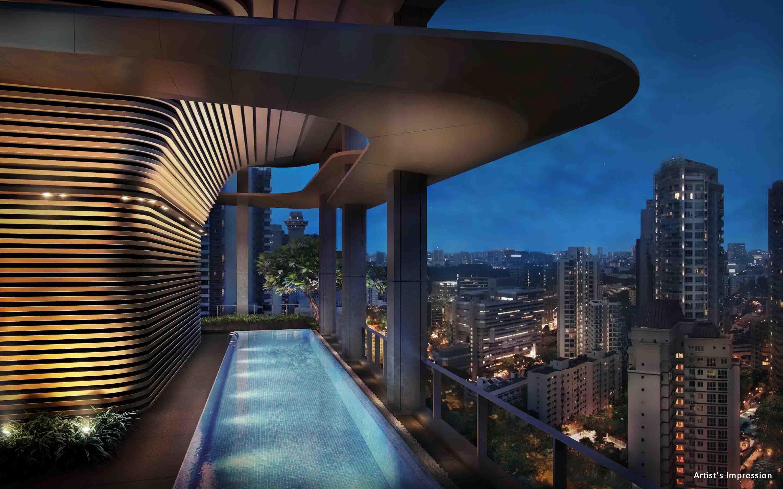 银峰公寓 空中休闲泳池