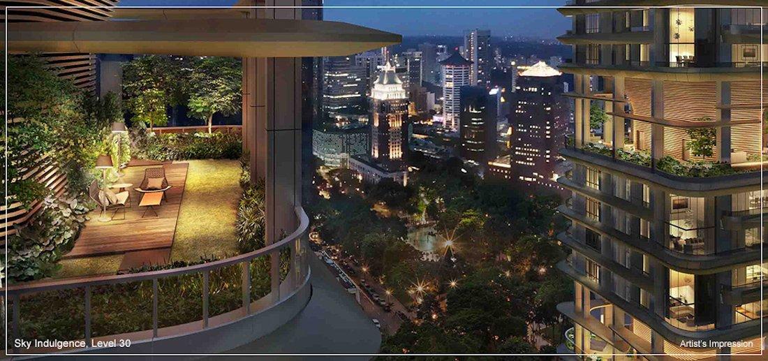 银峰公寓单位空中舒适休闲区
