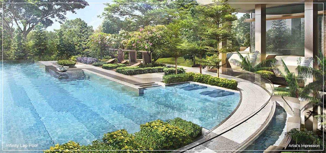 银峰公寓漂亮的标准游泳池