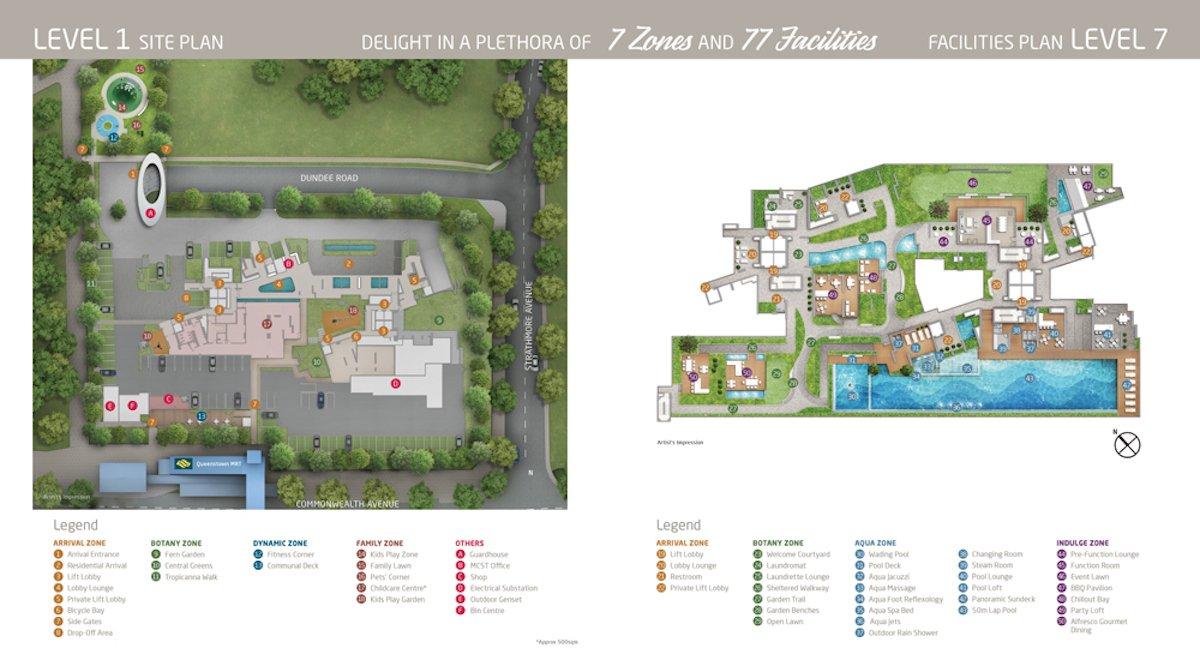 Queens Peak Site Plan 平面设计图