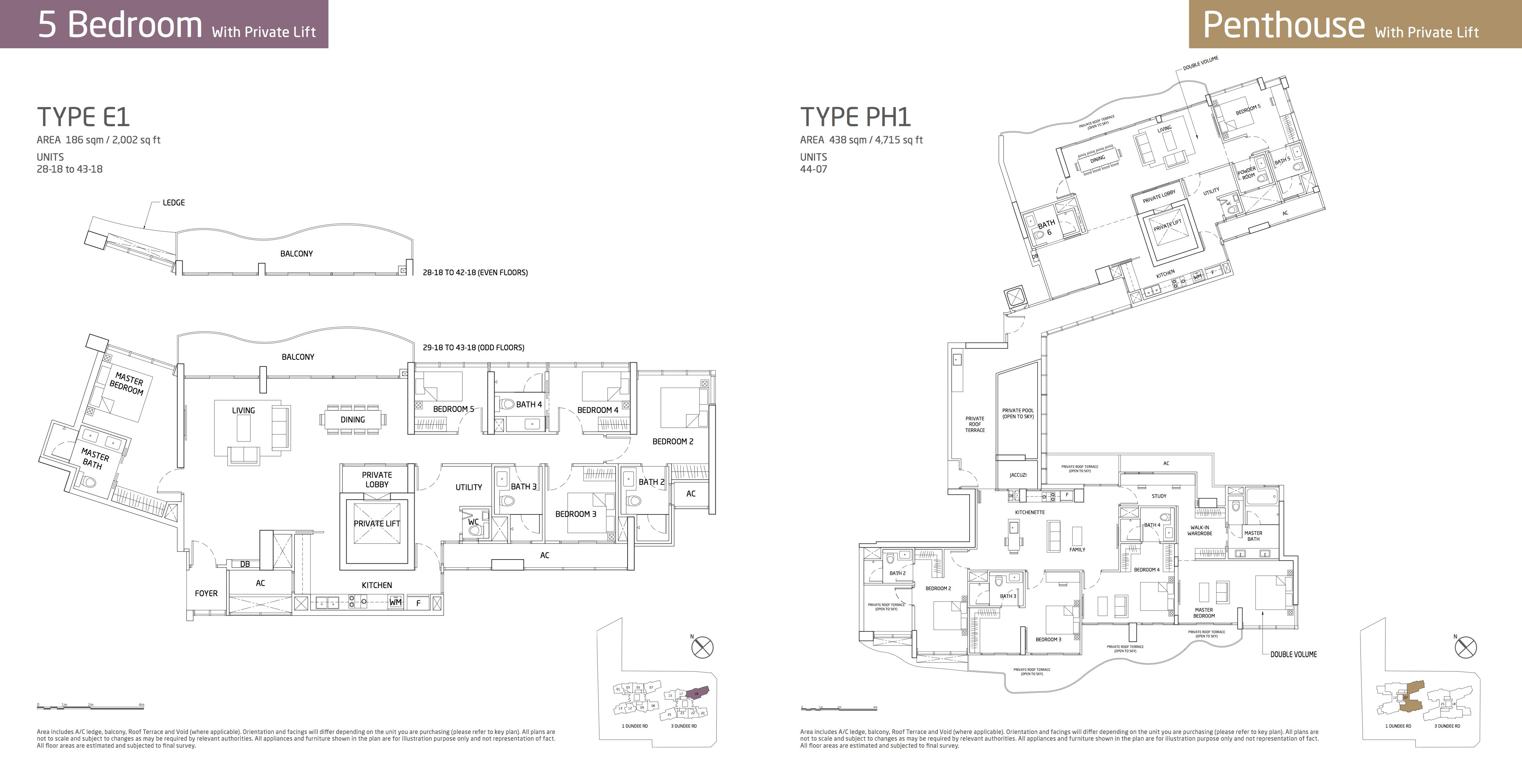 Queens Peak skye collections 5 bedroom E1 and penthouse
