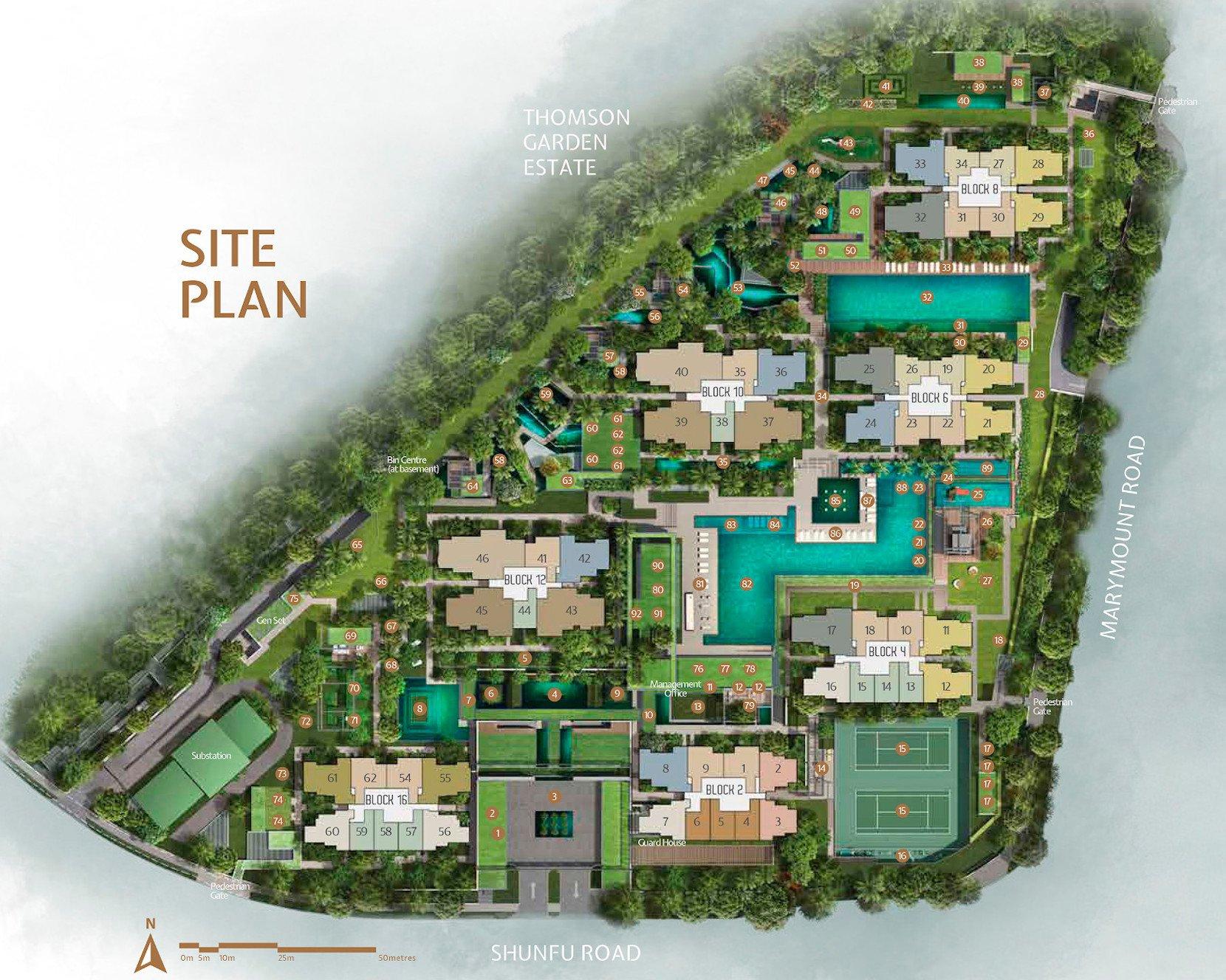 JadeScape condo Site Plan landscape facilities