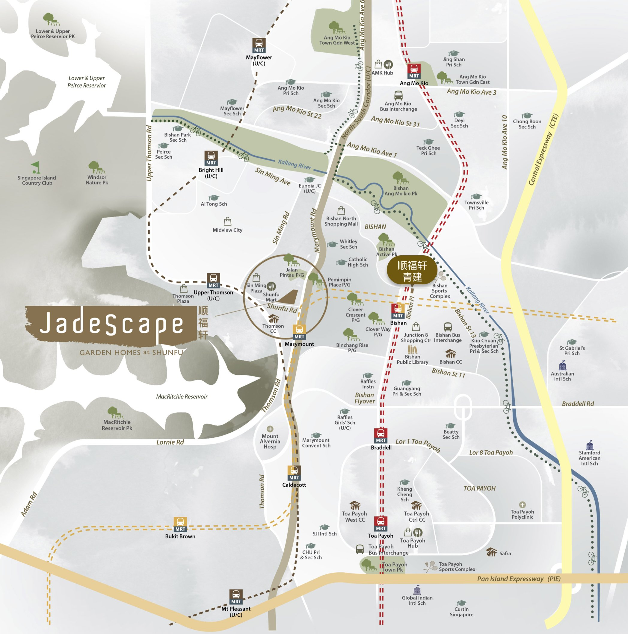 jadescape location map shunfu marymount bishan upper thomson