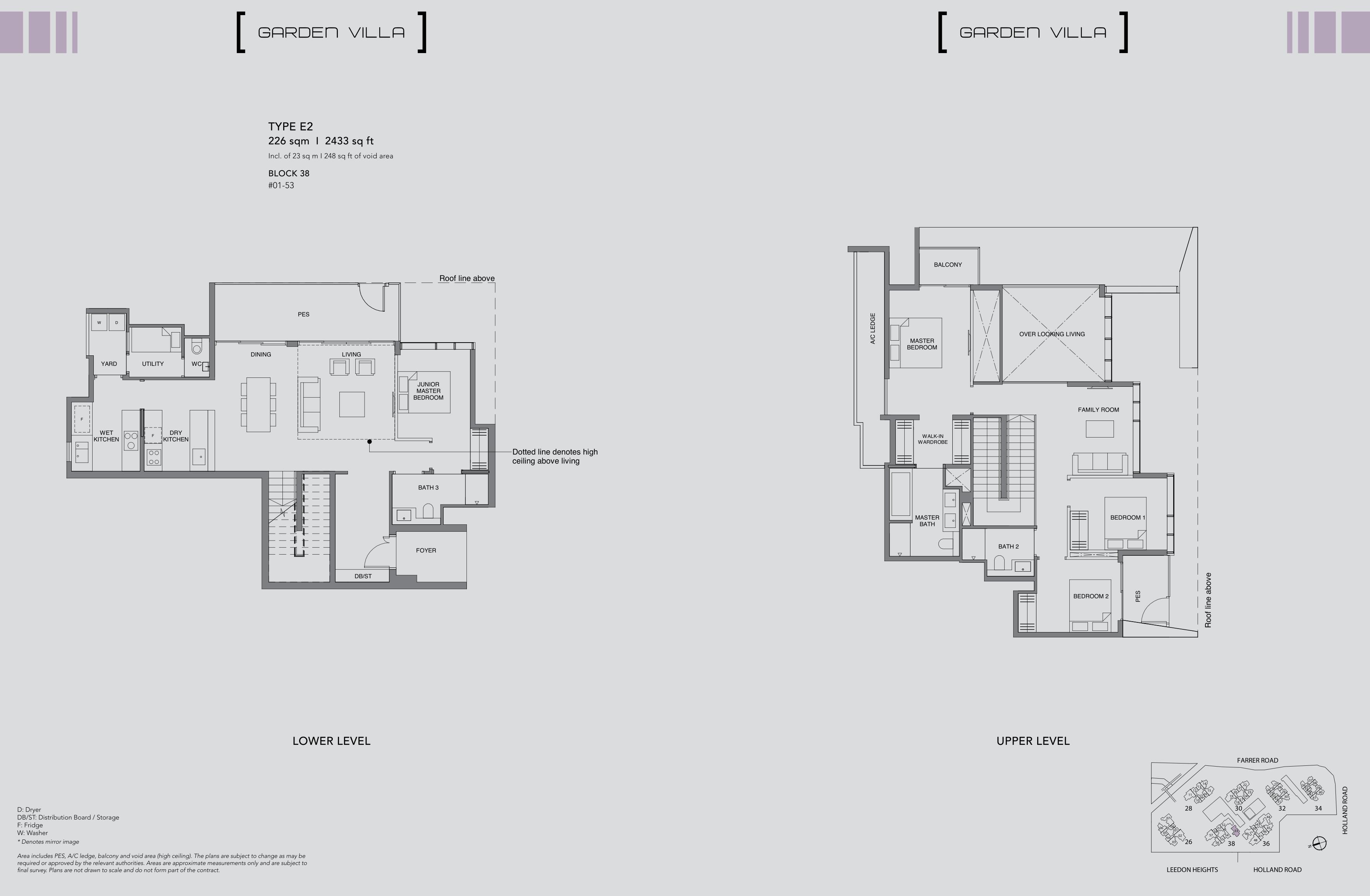 Leedon Green floor plan Garden villa 4 Bedroom E2