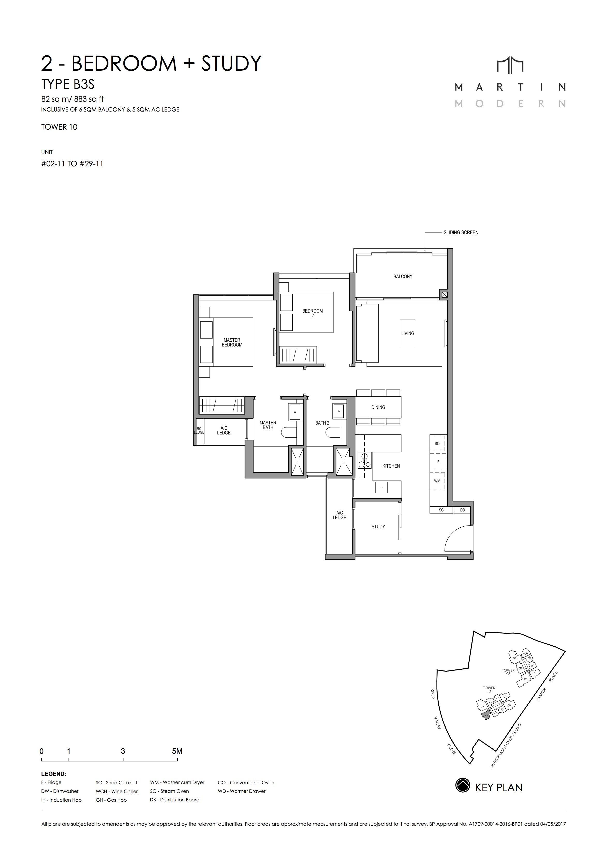 MARTIN MODERN 2-Bedroom TYPE B3S