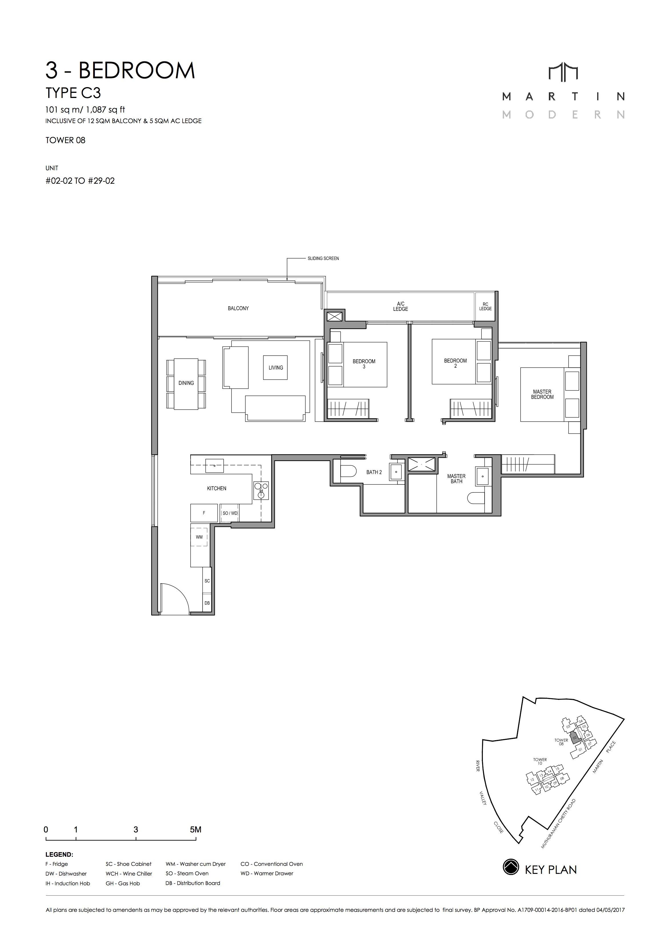 MARTIN MODERN 3-Bedroom TYPE C3
