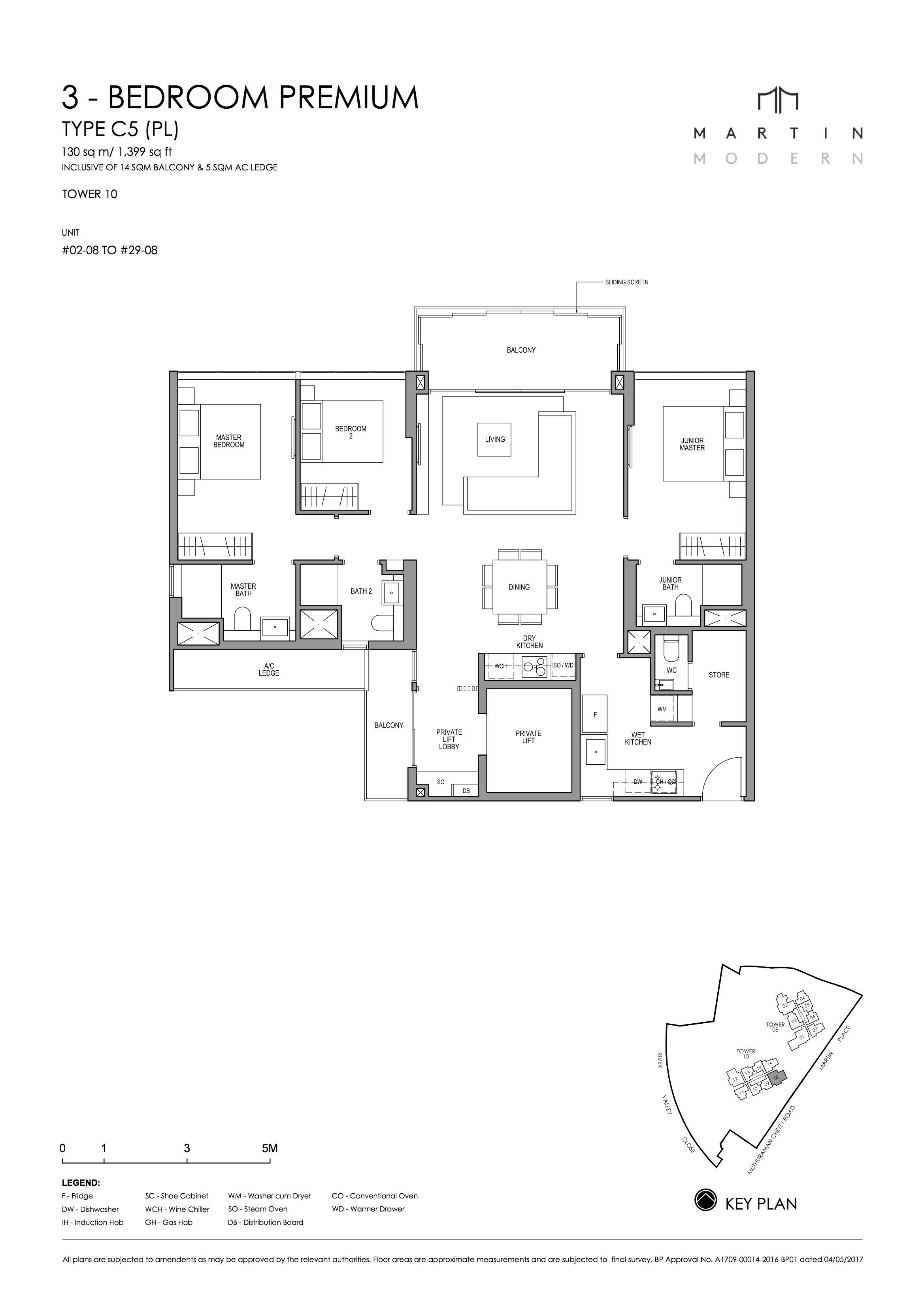 MARTIN MODERN 3-Bedroom TYPE C5PL