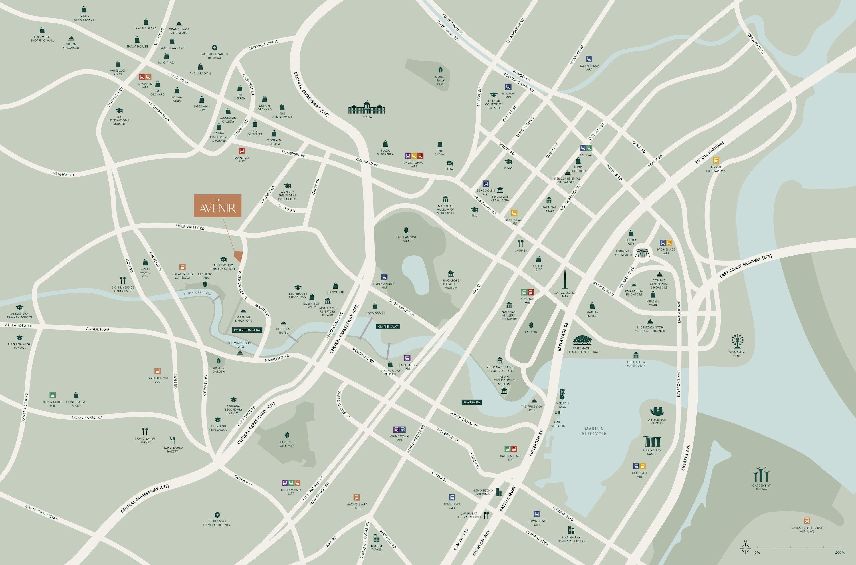 The Avenir condo Location Map