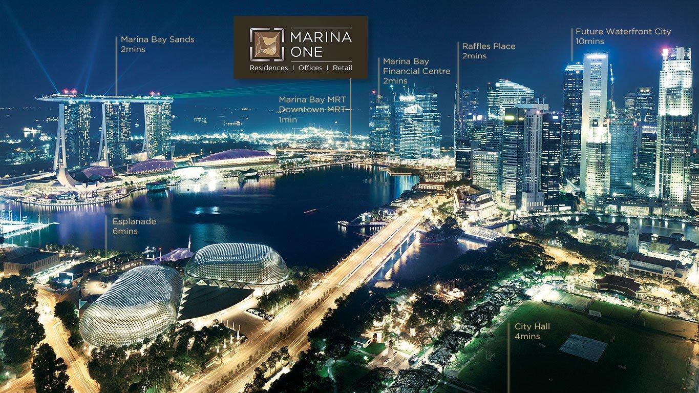 滨海盛景豪苑 marina bay and marina one residences