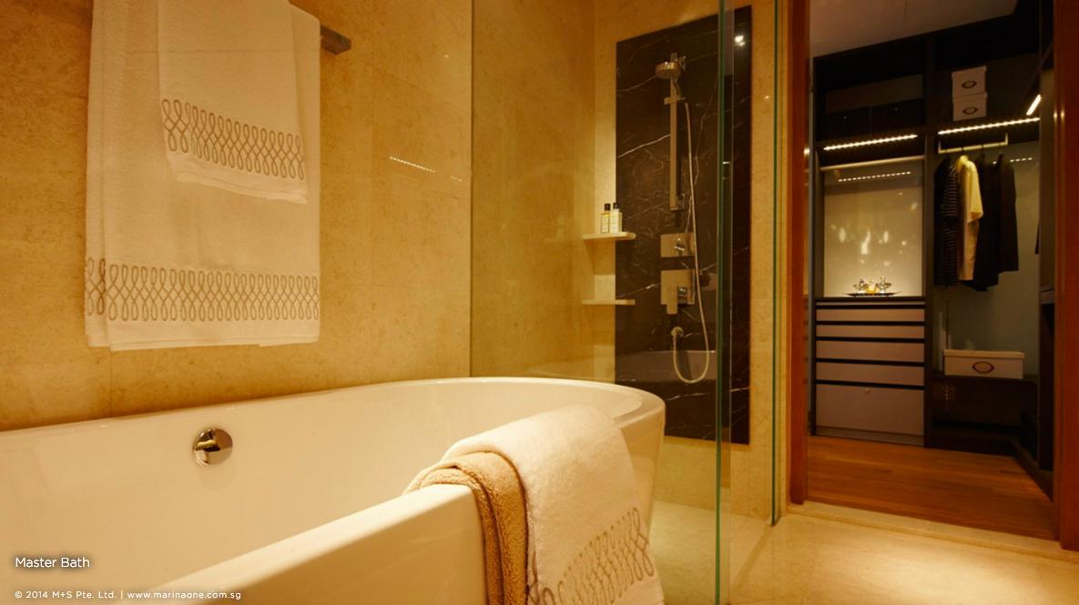 滨海盛景豪苑 marina one residences 4 bedroom master bath