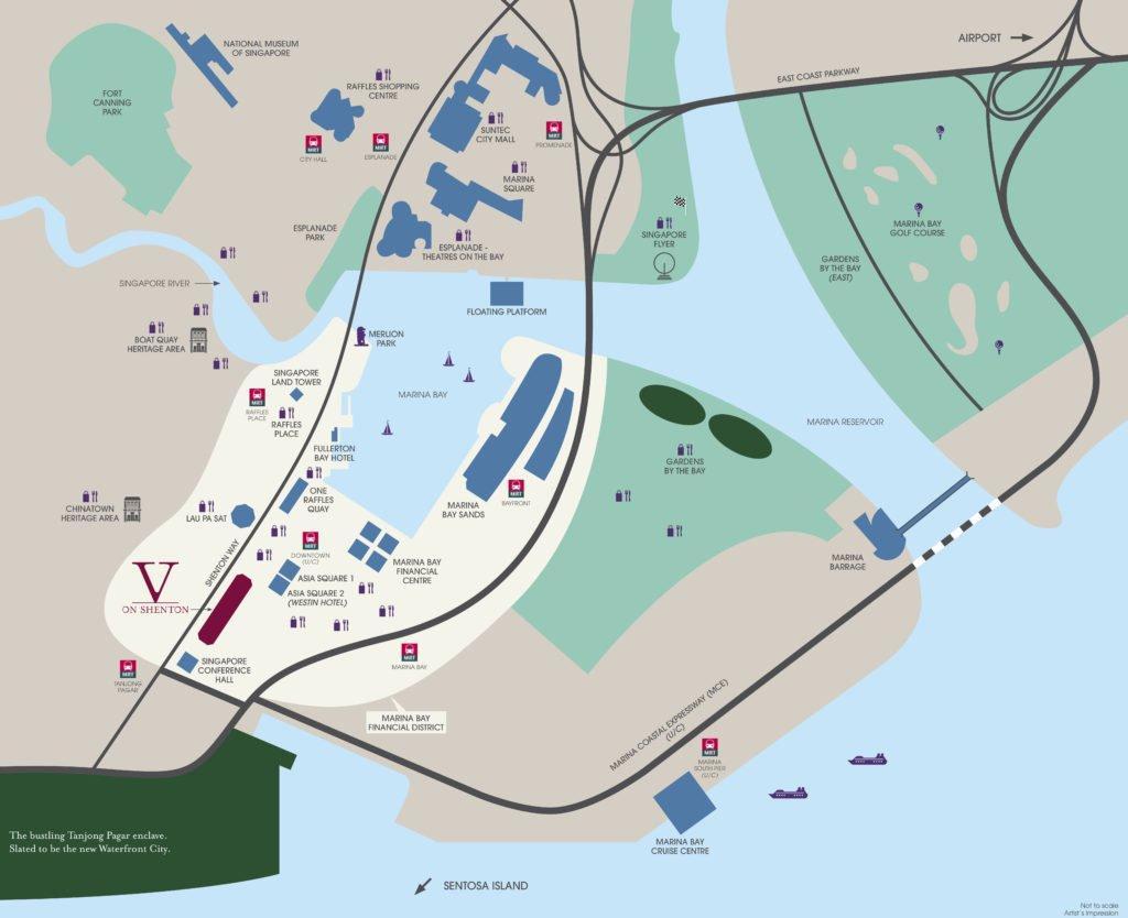 V on Shenton 珊顿-云尚 location map