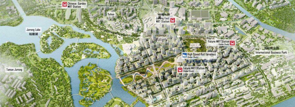 Jurong Lake District future plan map 裕廊湖区地图