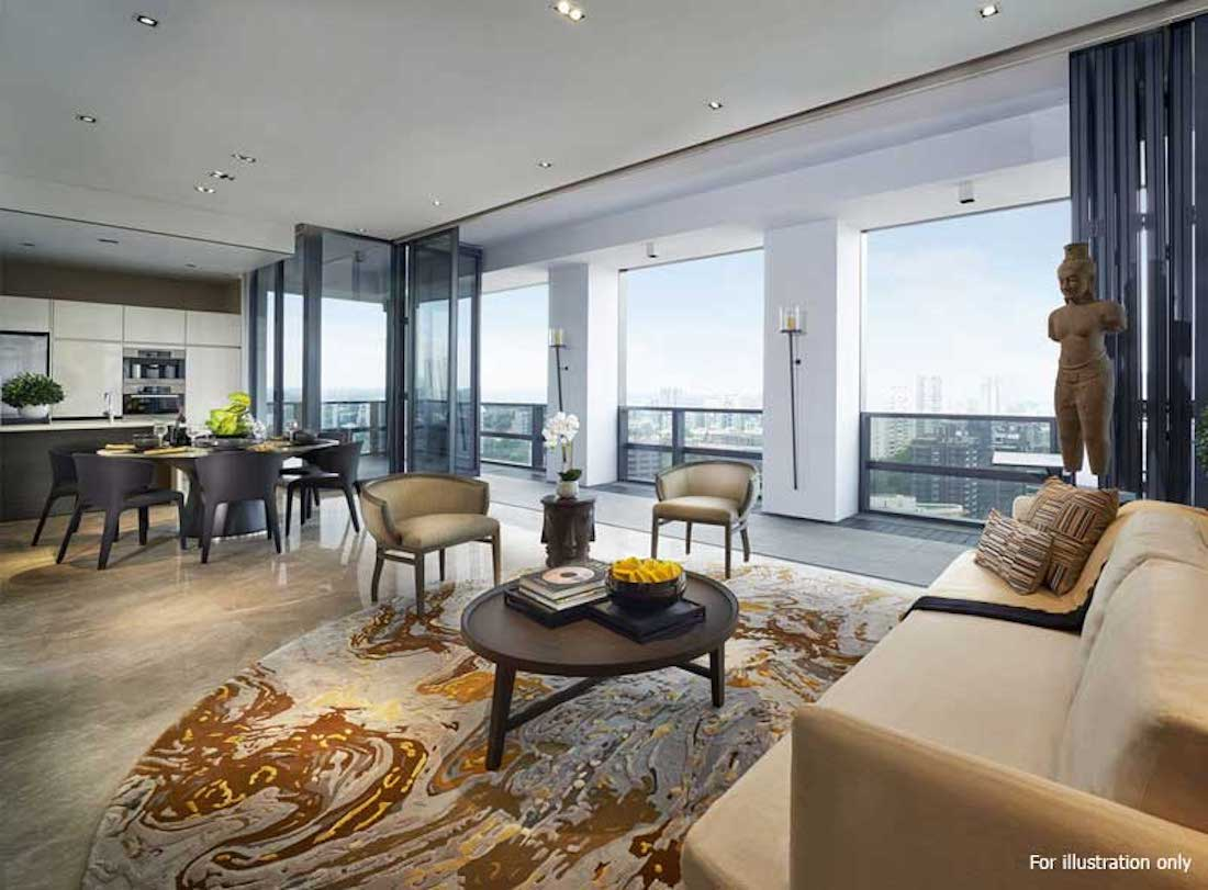 Nouvel 18 明筑公寓 -示范单位客厅1