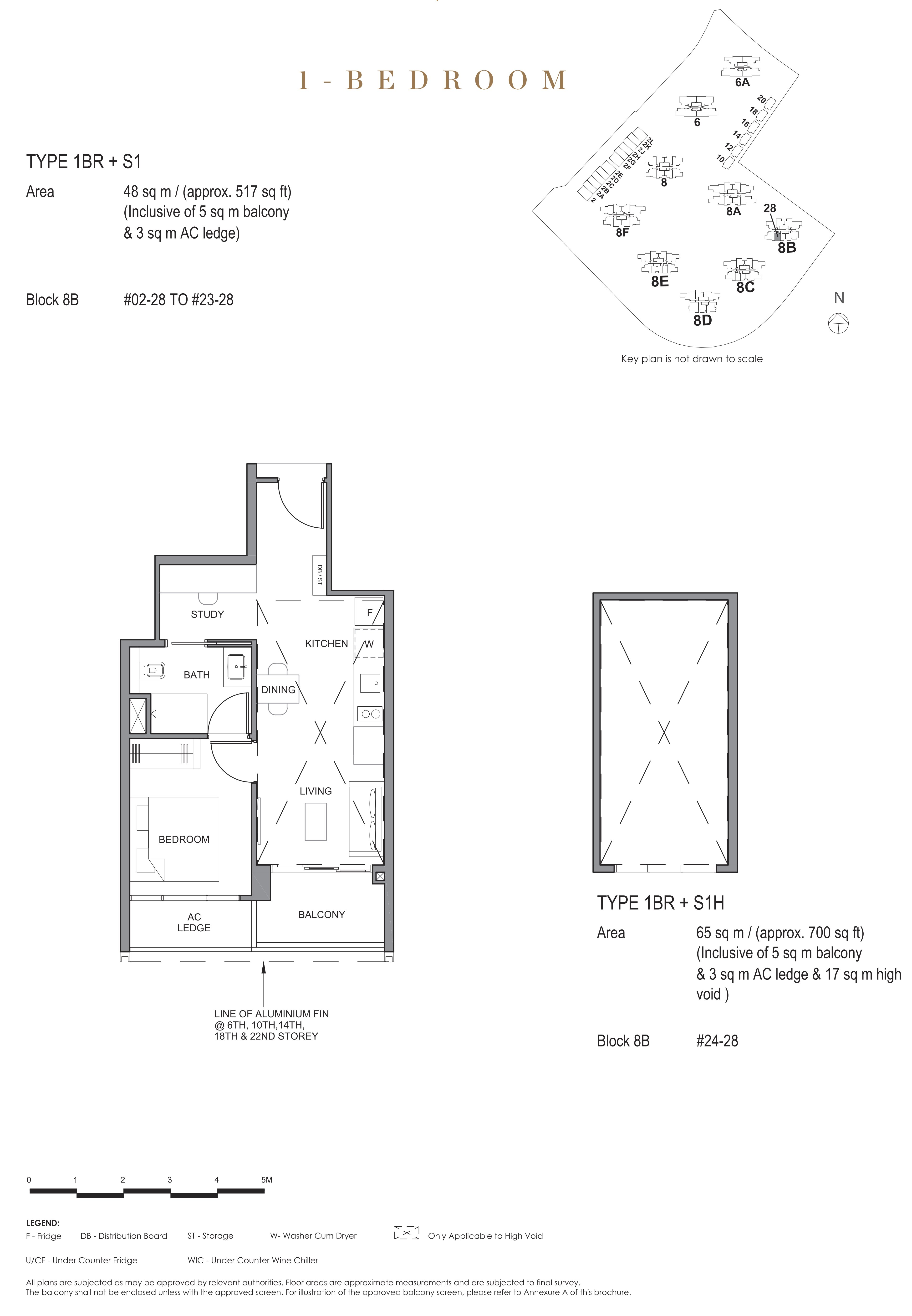 Parc Clematis 锦泰门第 contemporary 1 bedroom 1卧房-书房 1 BR-S1