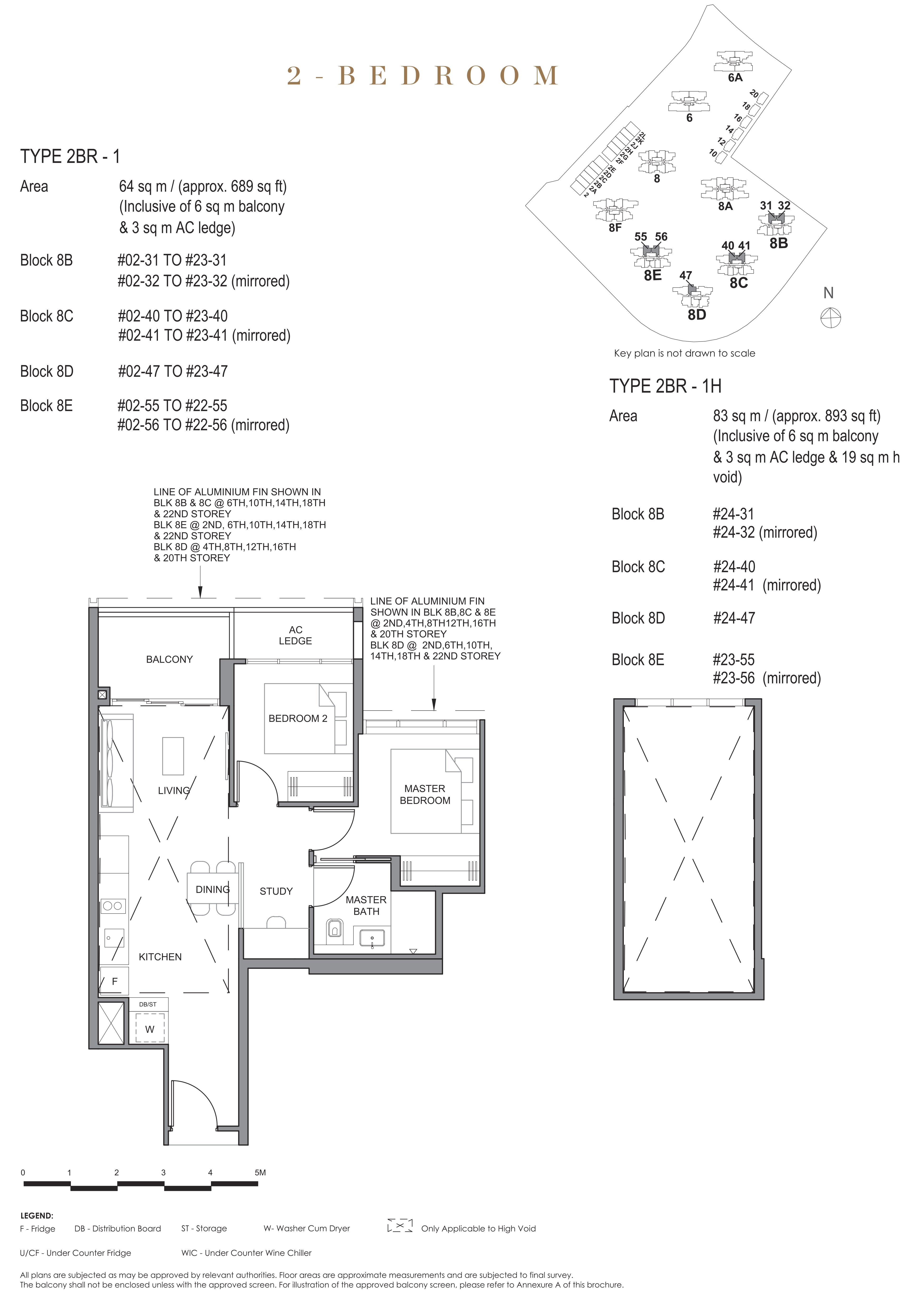 Parc Clematis 锦泰门第 contemporary 2 bedroom 1卧房-书房 2 BR-1