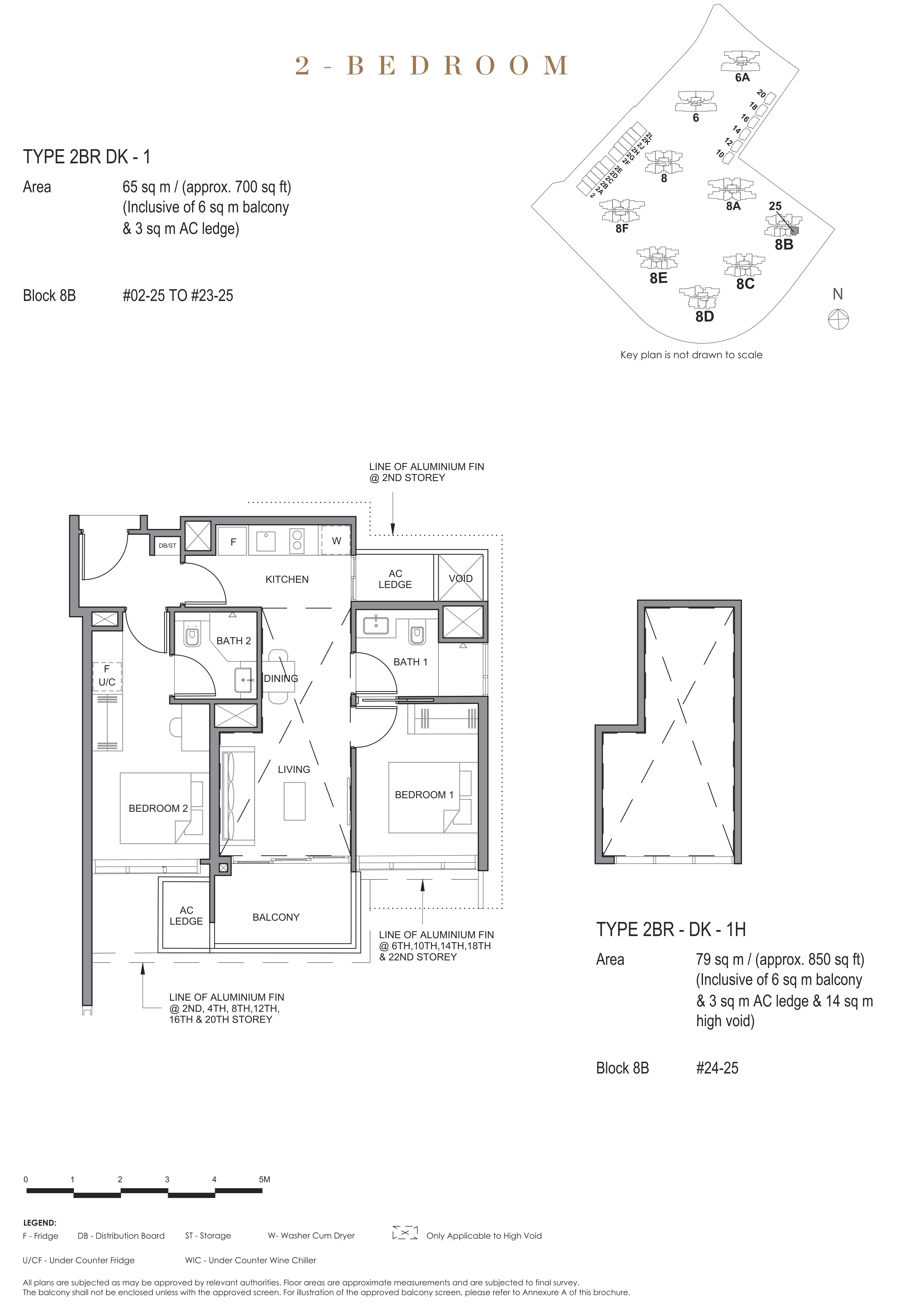 Parc Clematis 锦泰门第 contemporary 2 bedroom dk 2卧房-双钥匙 2BR-dk1