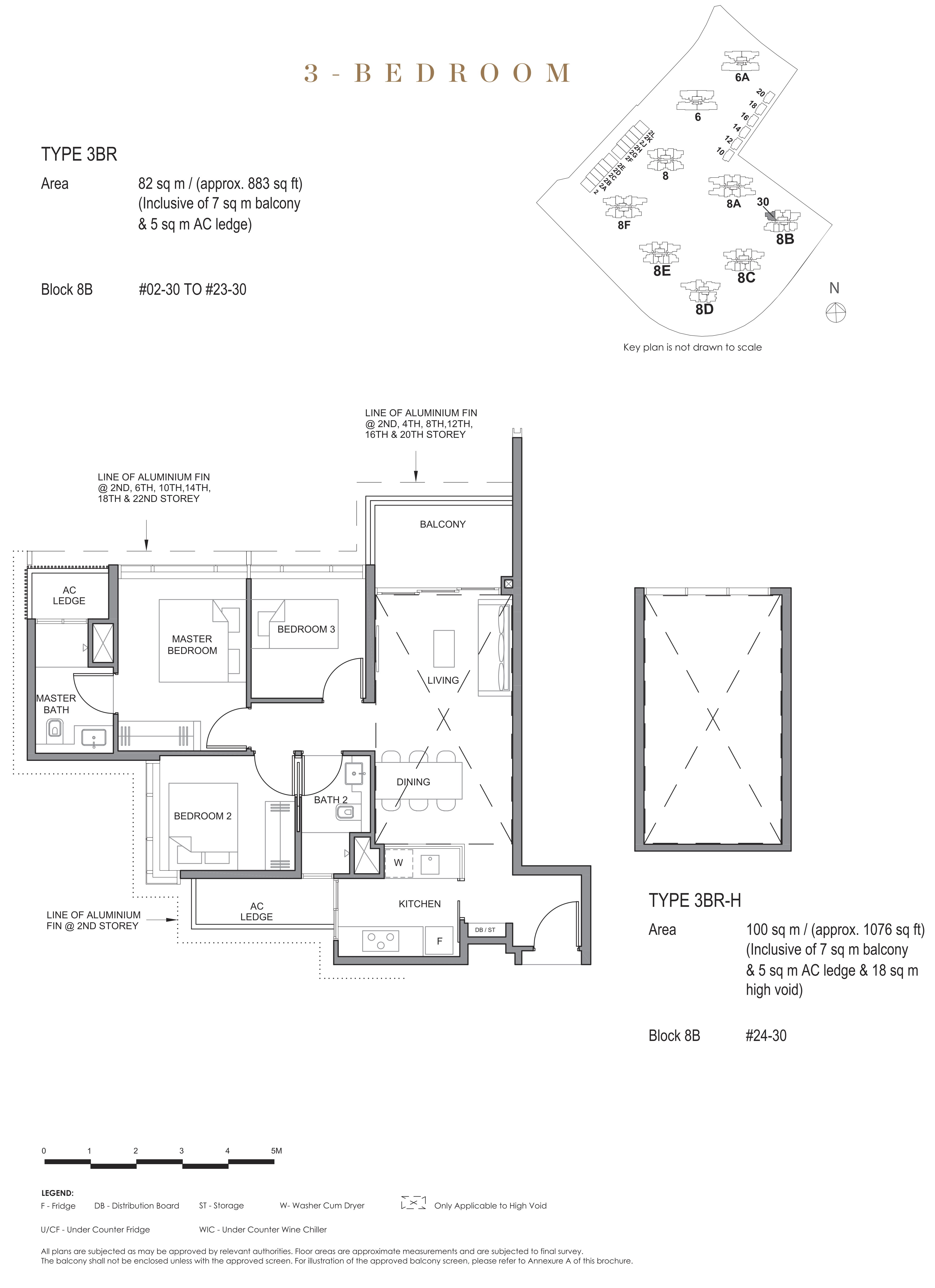 Parc Clematis 锦泰门第 contemporary 3 bedroom 3卧房 3 BR