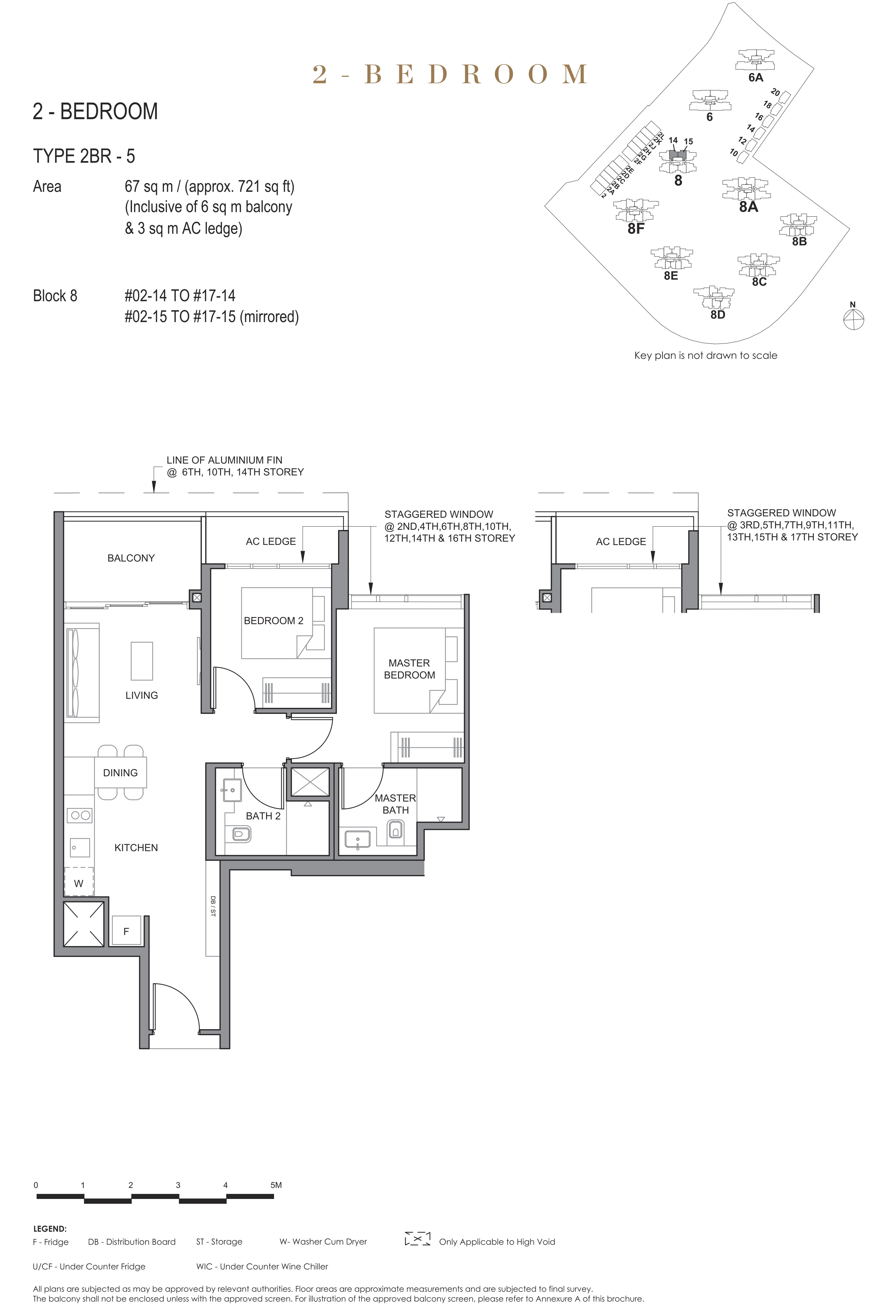 Parc Clematis 锦泰门第 elegance 2 bedroom 2卧房 2BR-5