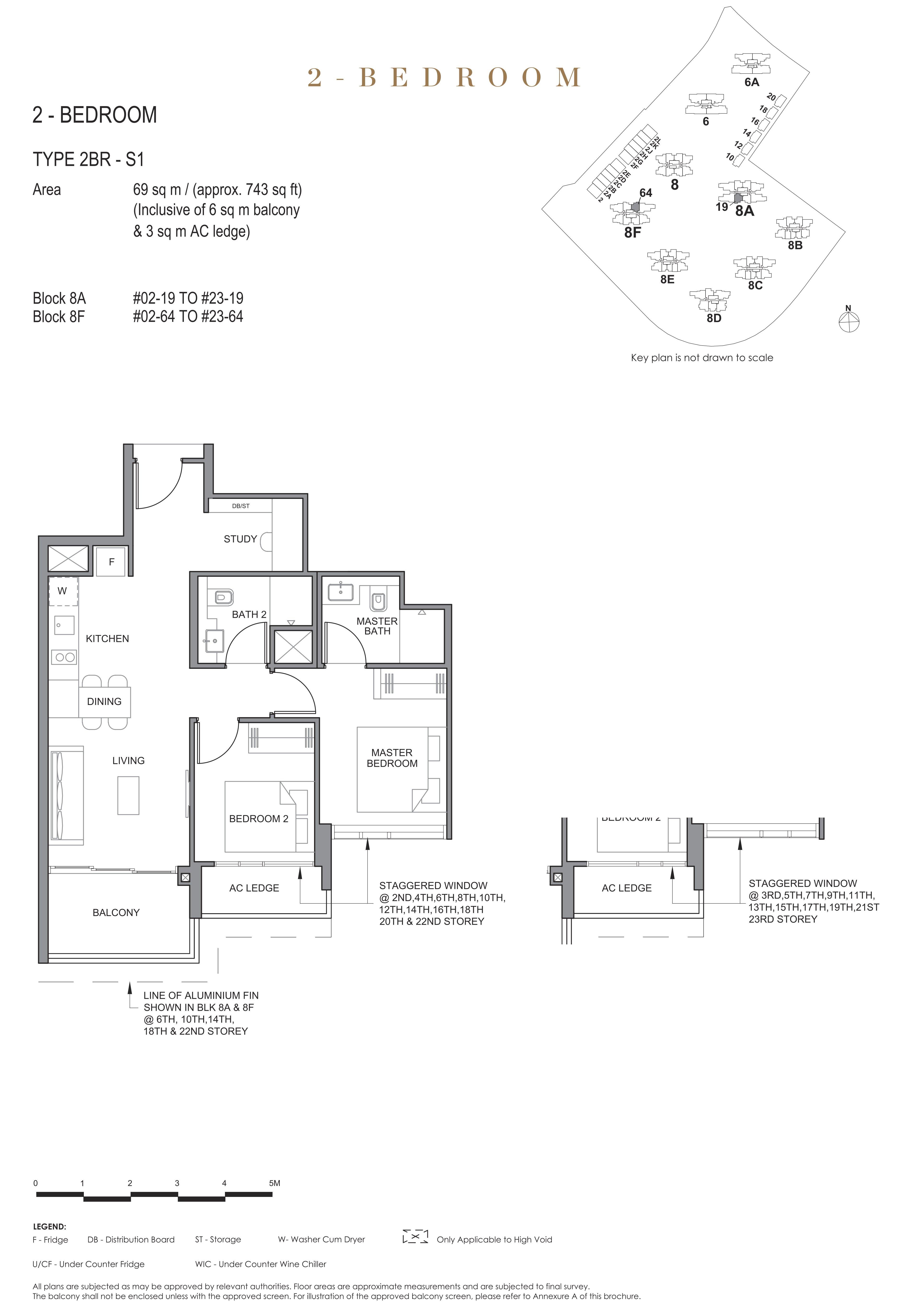 Parc Clematis 锦泰门第 elegance 2 bedroom +study 2卧房+书房 2BR-S1