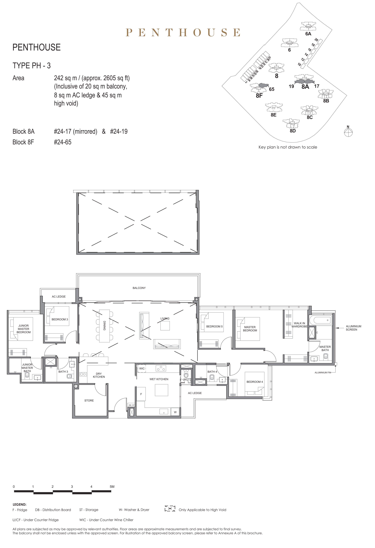 Parc Clematis 锦泰门第 elegance penthouse 5卧房 PH-3