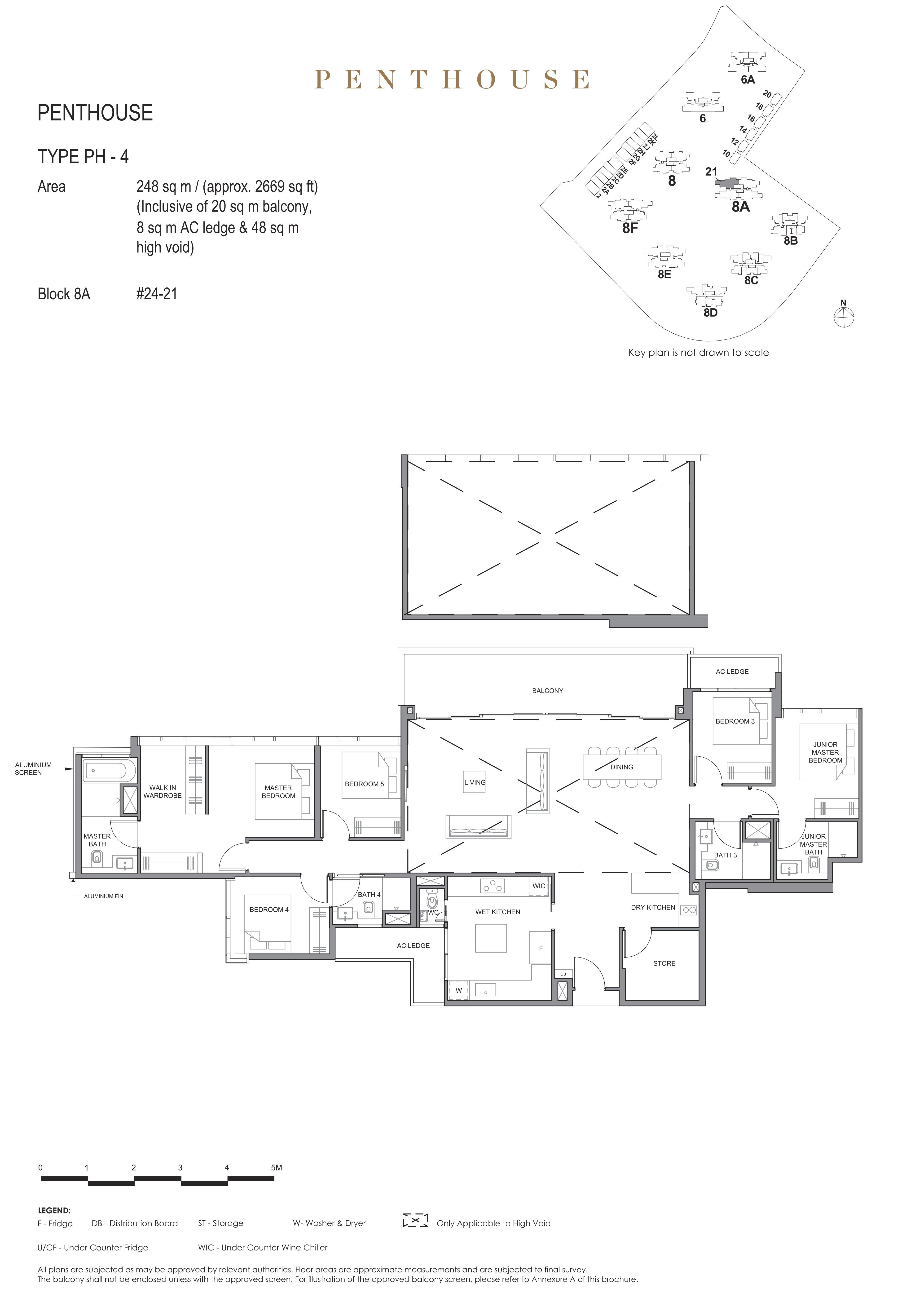 Parc Clematis 锦泰门第 elegance penthouse 5卧房 PH-4