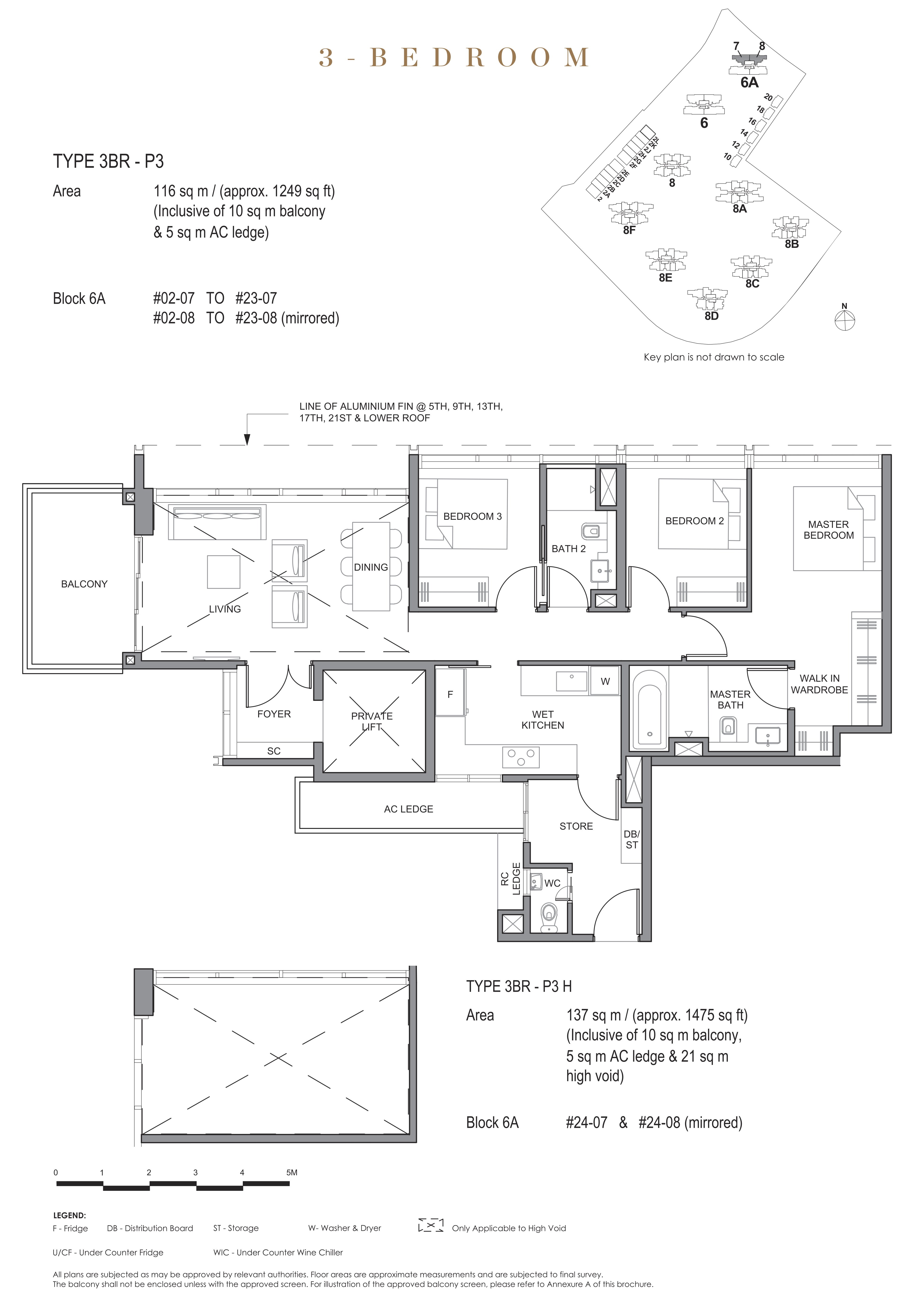 Parc Clematis 锦泰门第 signature 3 bedroom 3卧房 3BR-P3