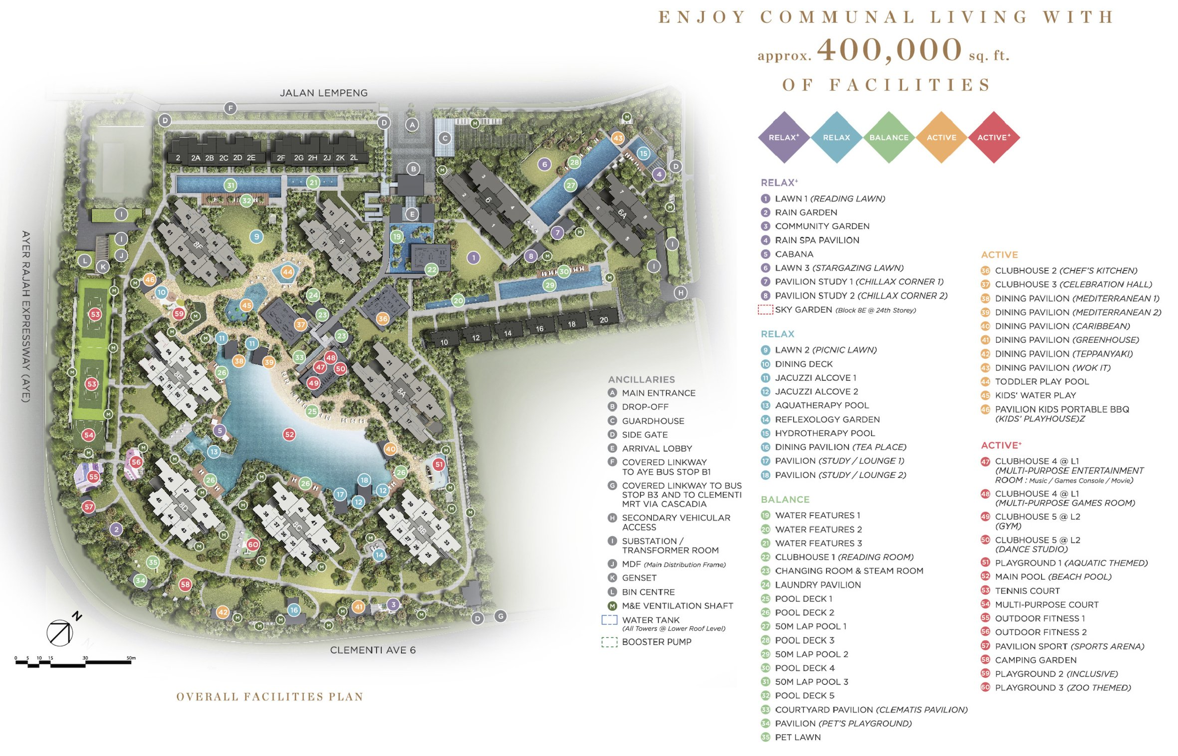 Parc Clematis 锦泰门第 site plan facilities