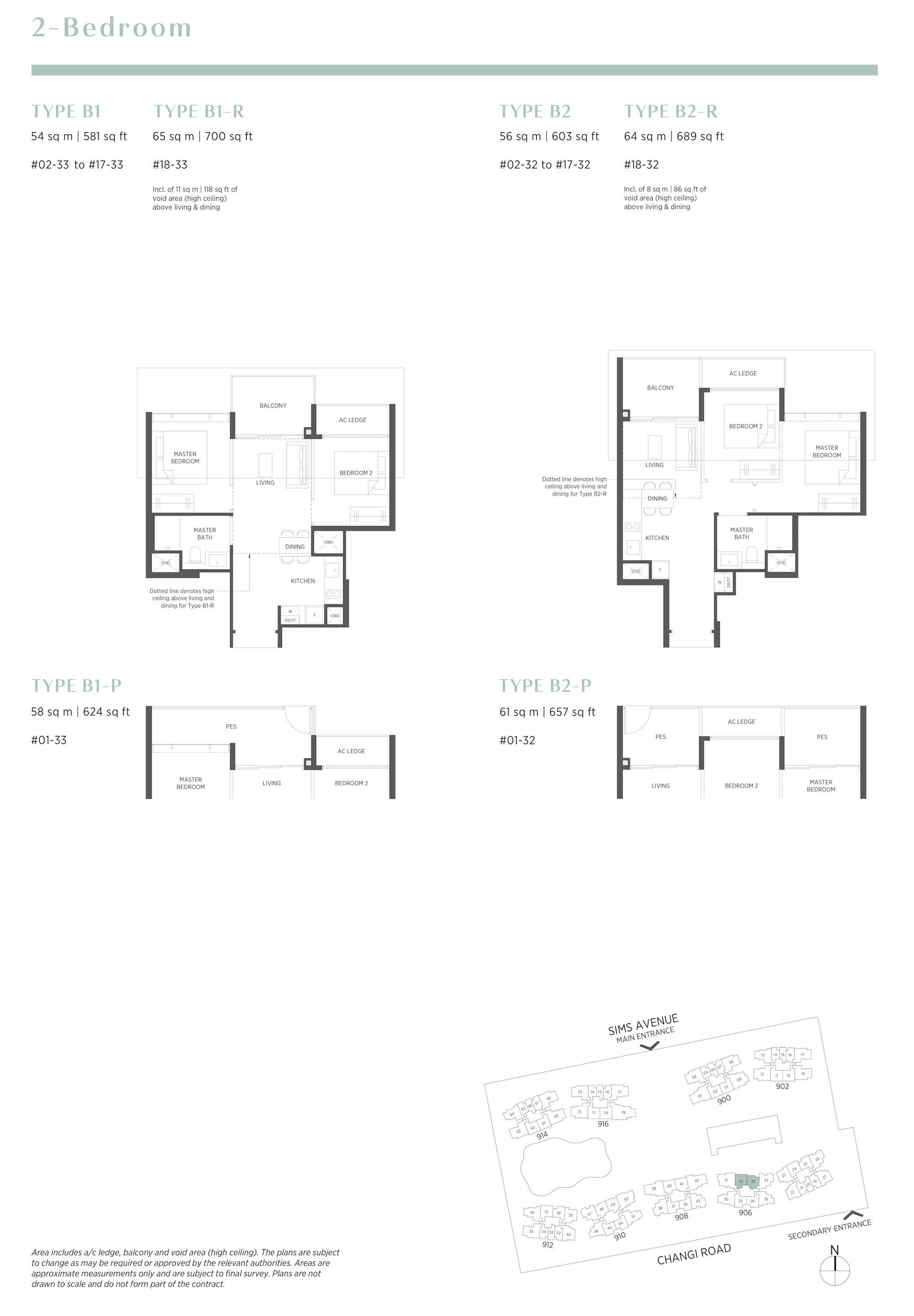 Parc Esta 东景苑 2 bedroom 2卧房 B1 B2