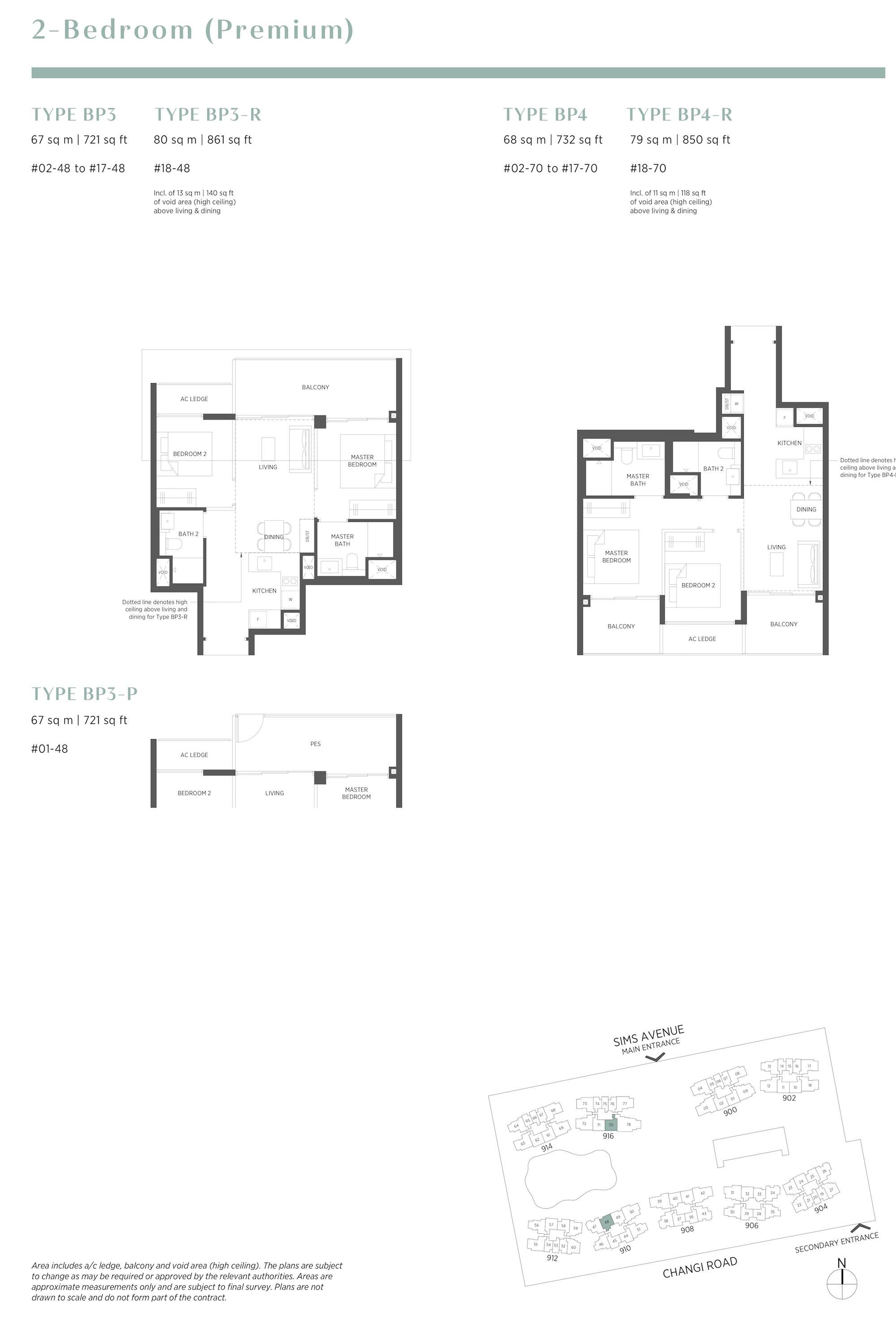 Parc Esta 东景苑 2 bedroom premium 2卧房优质 BP3 BP4