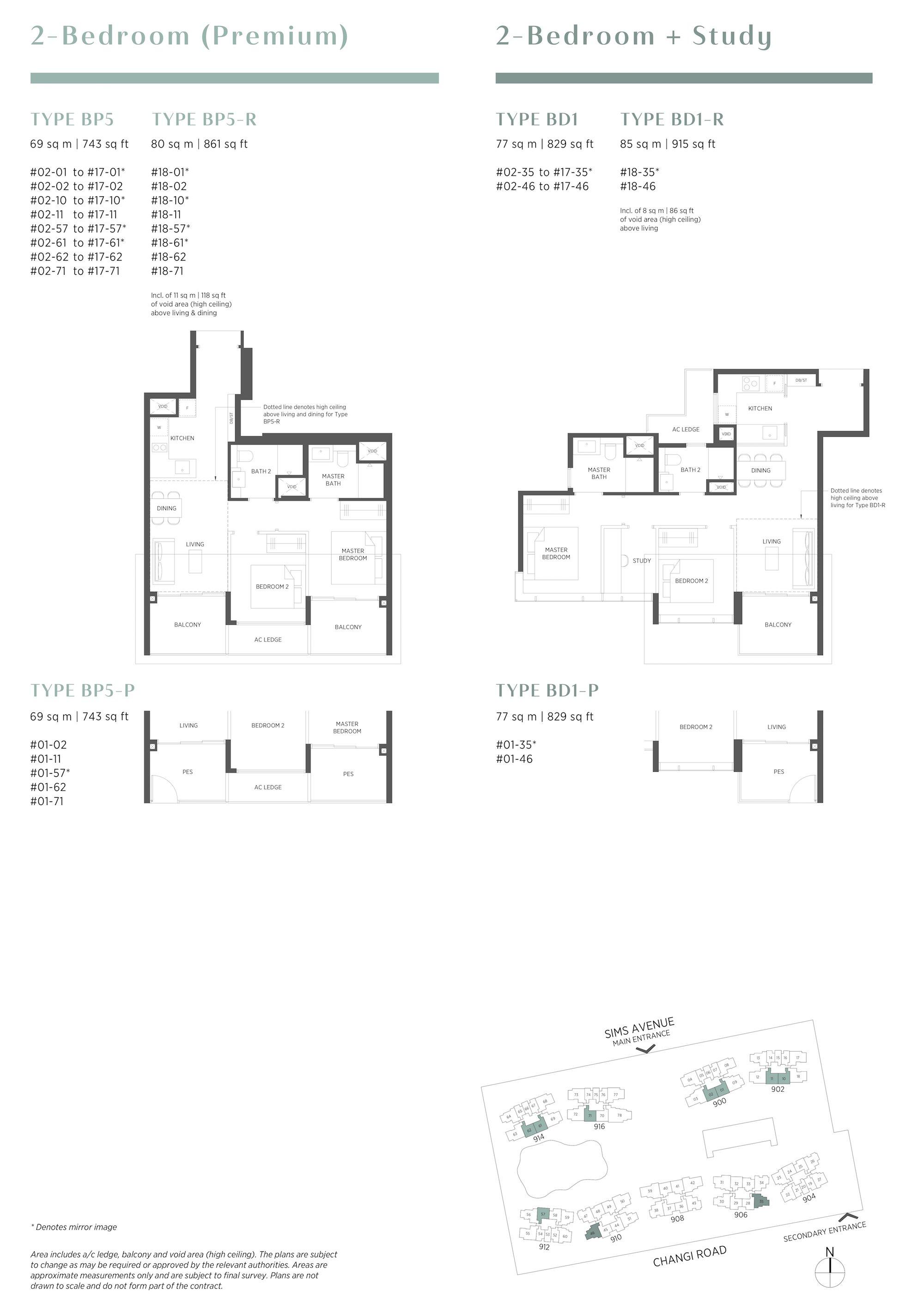 Parc Esta 东景苑 2 bedroom premium 2卧房优质 BP5 BD1