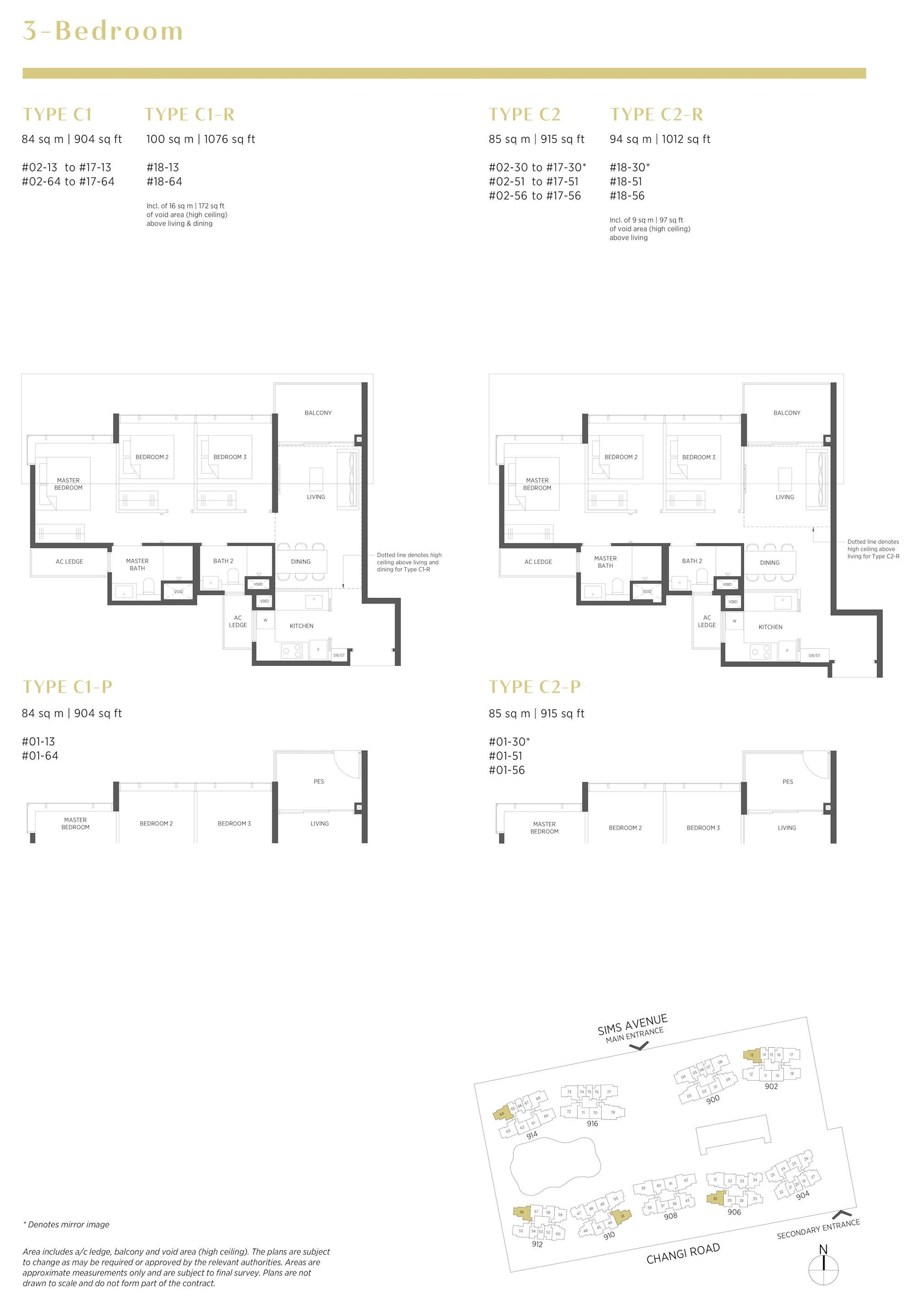 Parc Esta 东景苑 3 bedroom 3卧房 C1 C2