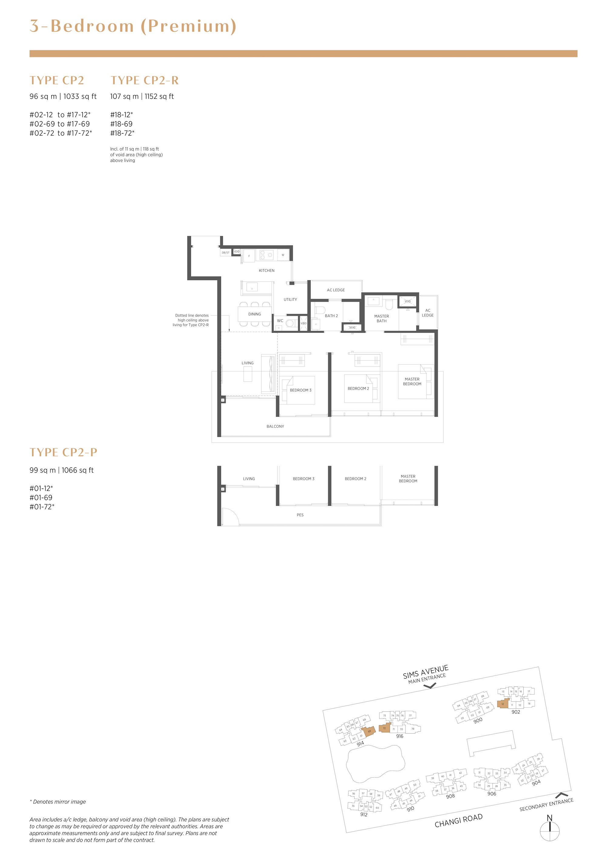Parc Esta 东景苑 3 bedroom premium-3卧房优质 CP2