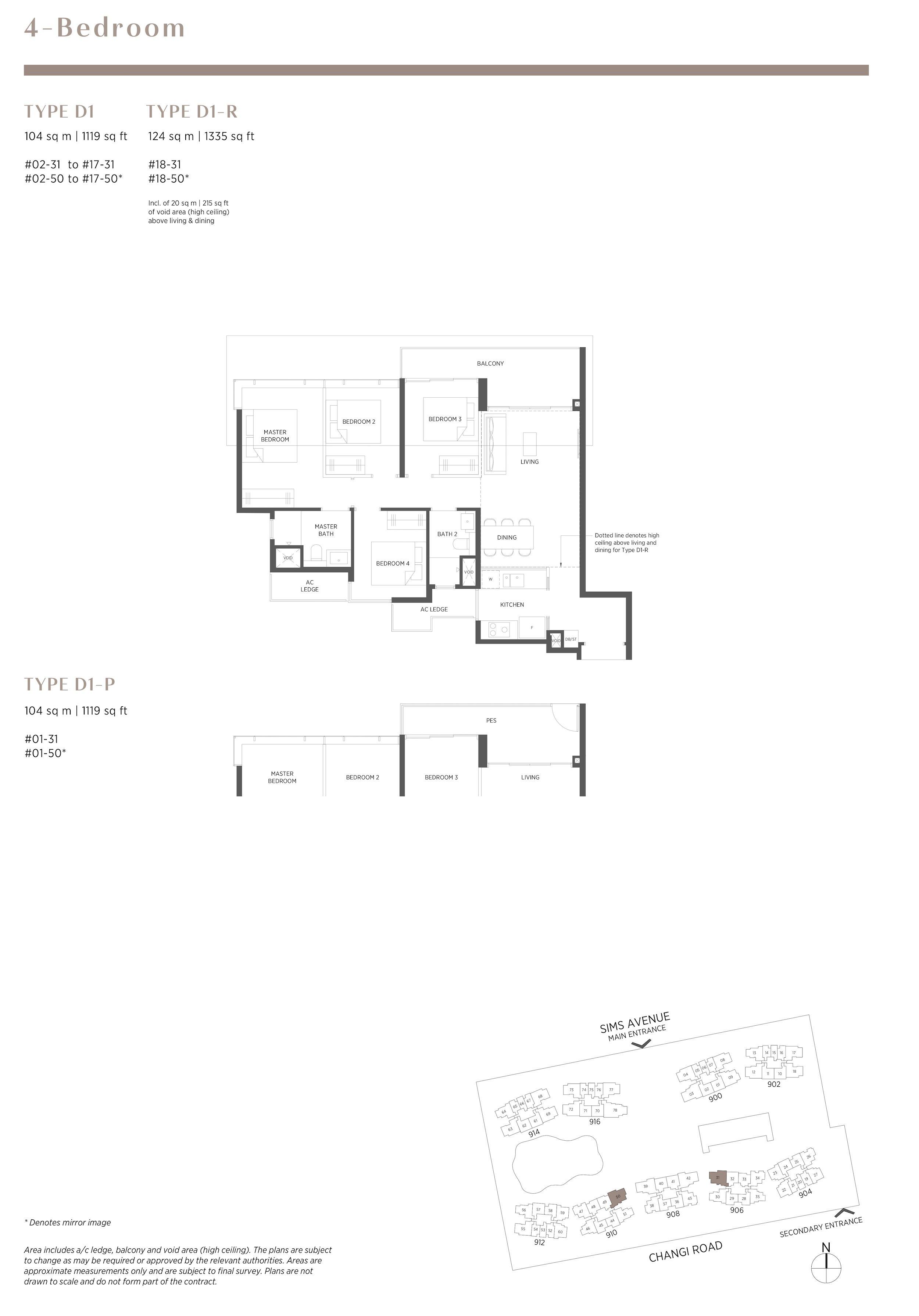 Parc Esta 东景苑 4 bedroom 4卧房 D1