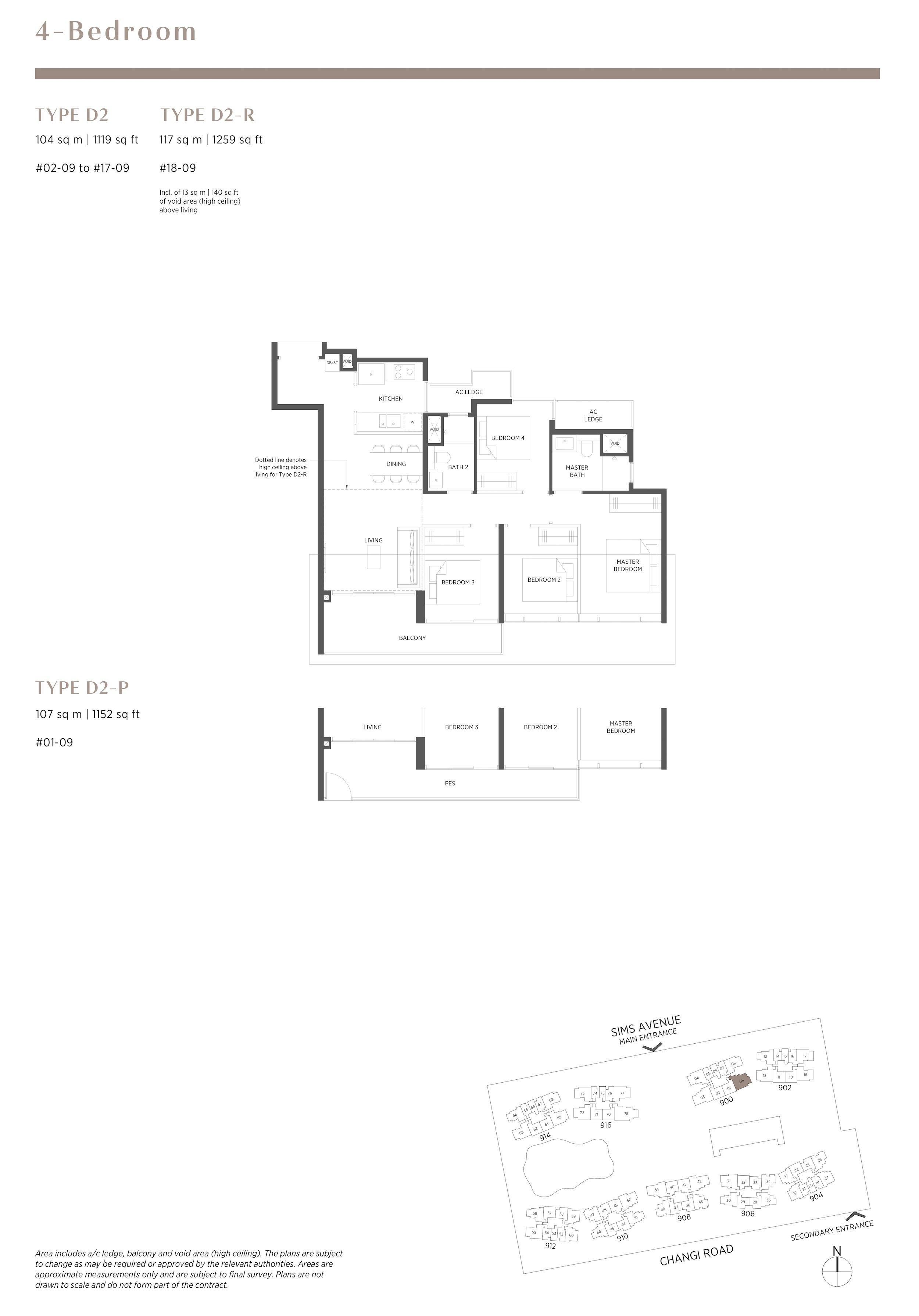 Parc Esta 东景苑 4 bedroom 4卧房 D2