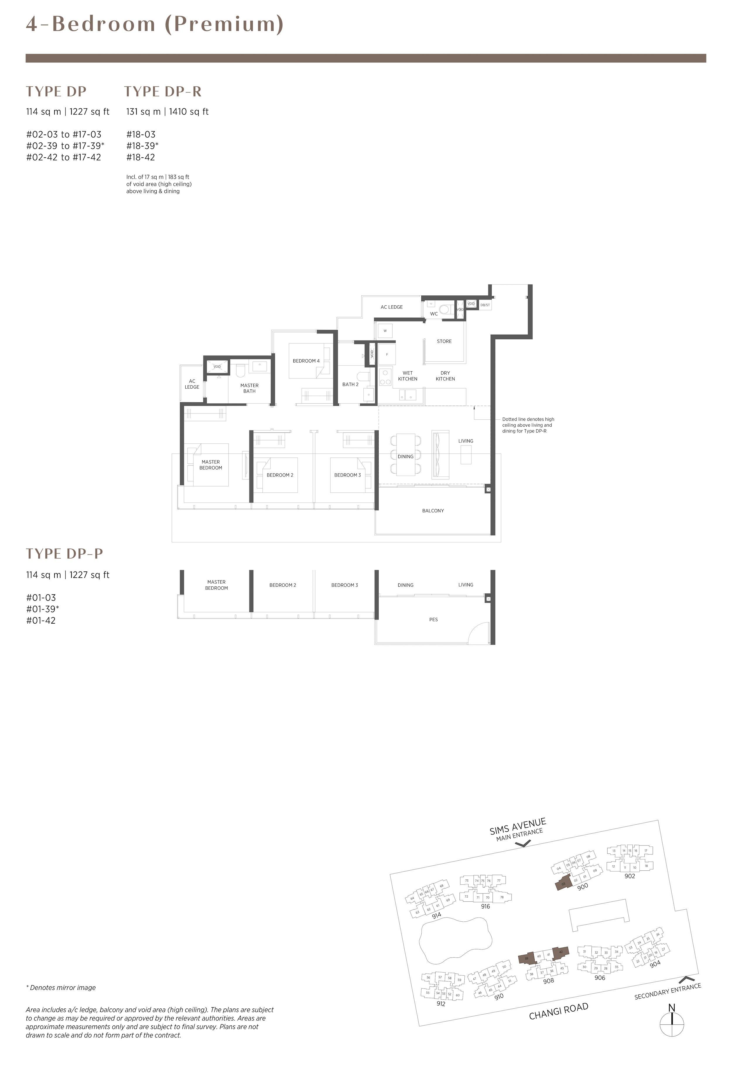 Parc Esta 东景苑 4 bedroom premium 4卧房优质 DP