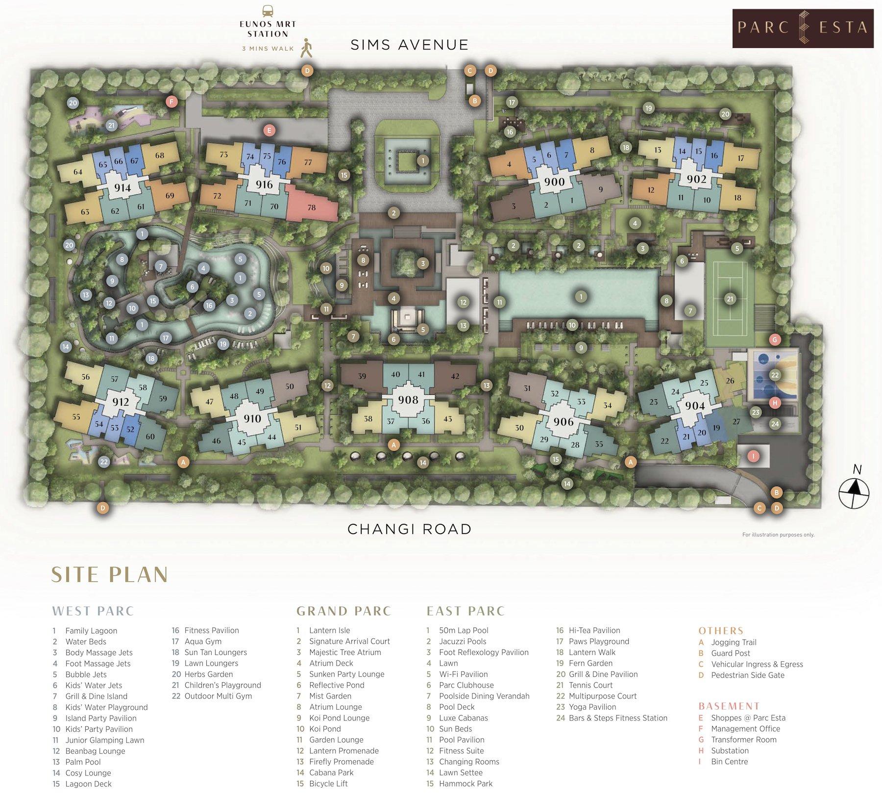 Parc Esta 东景苑 site plan 平面设计图
