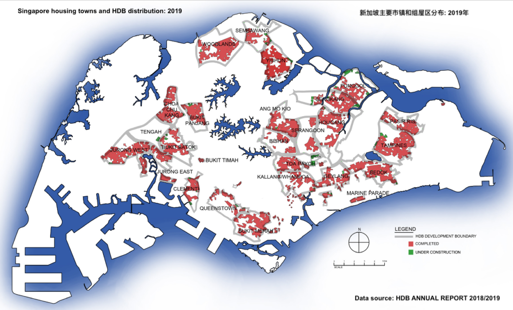 Singapore HDB estate 政府组屋区分布