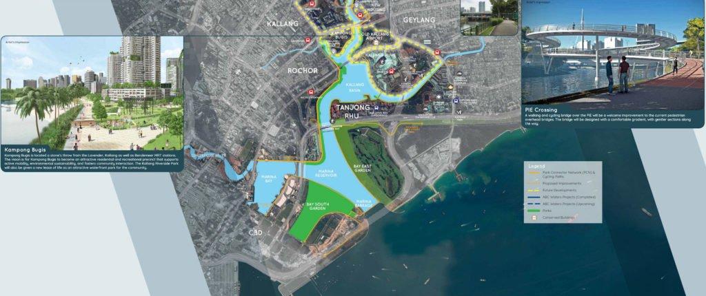 Singapore kallang river planning map 加冷河畔