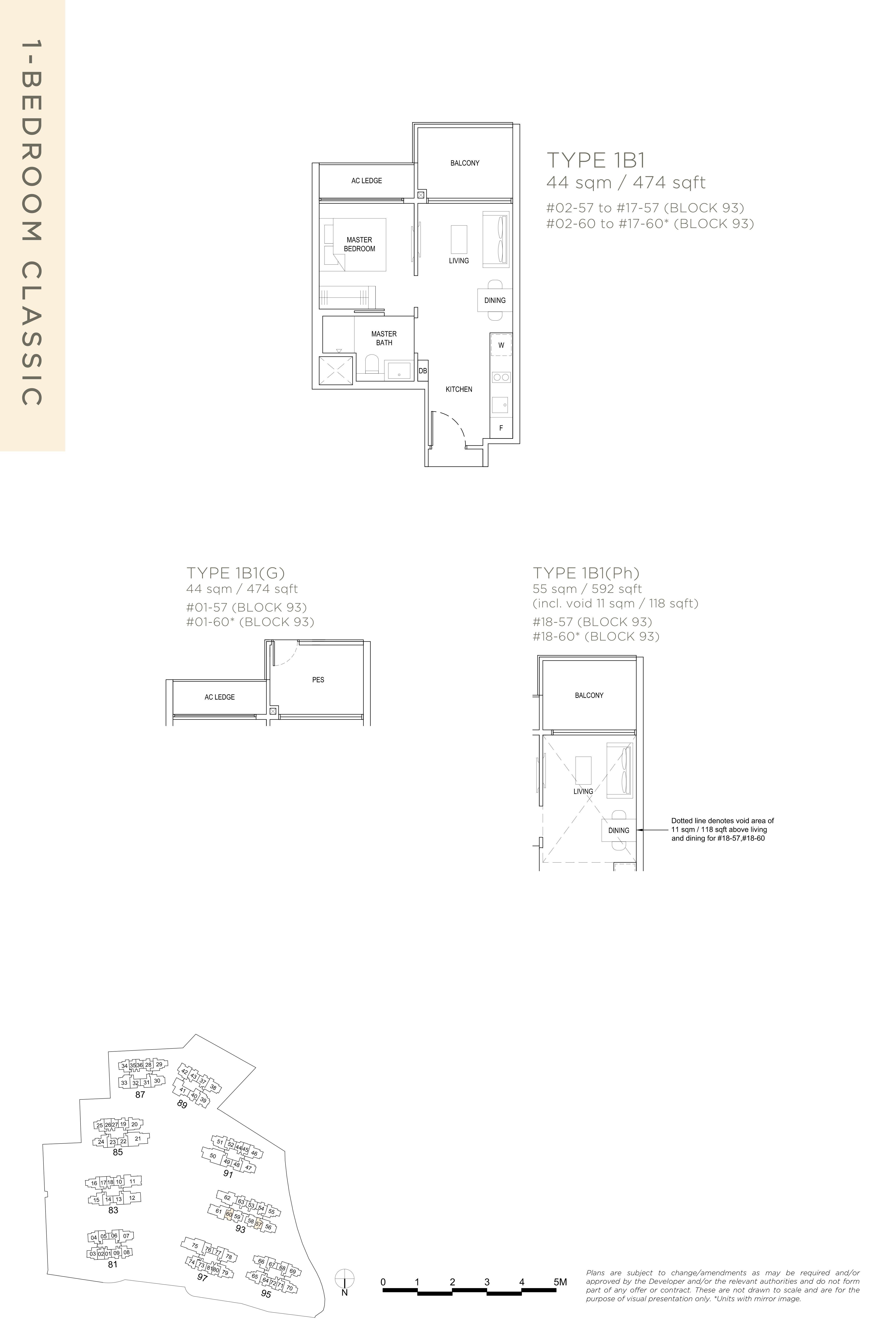 The Florence Residences 1-bedroom 1卧房 -1B1