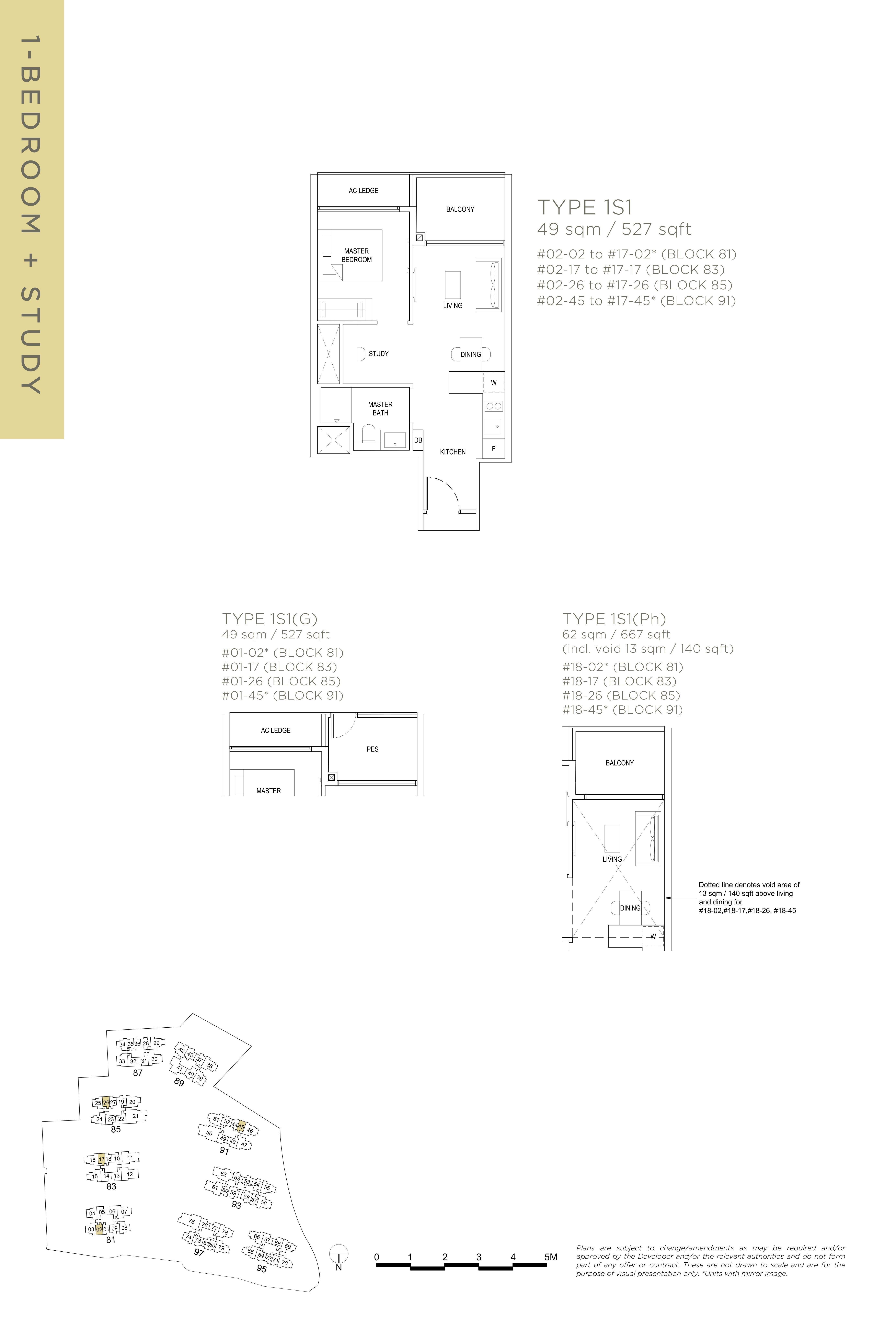 The Florence Residences 1-bedroom study 1卧房 书房-1S1