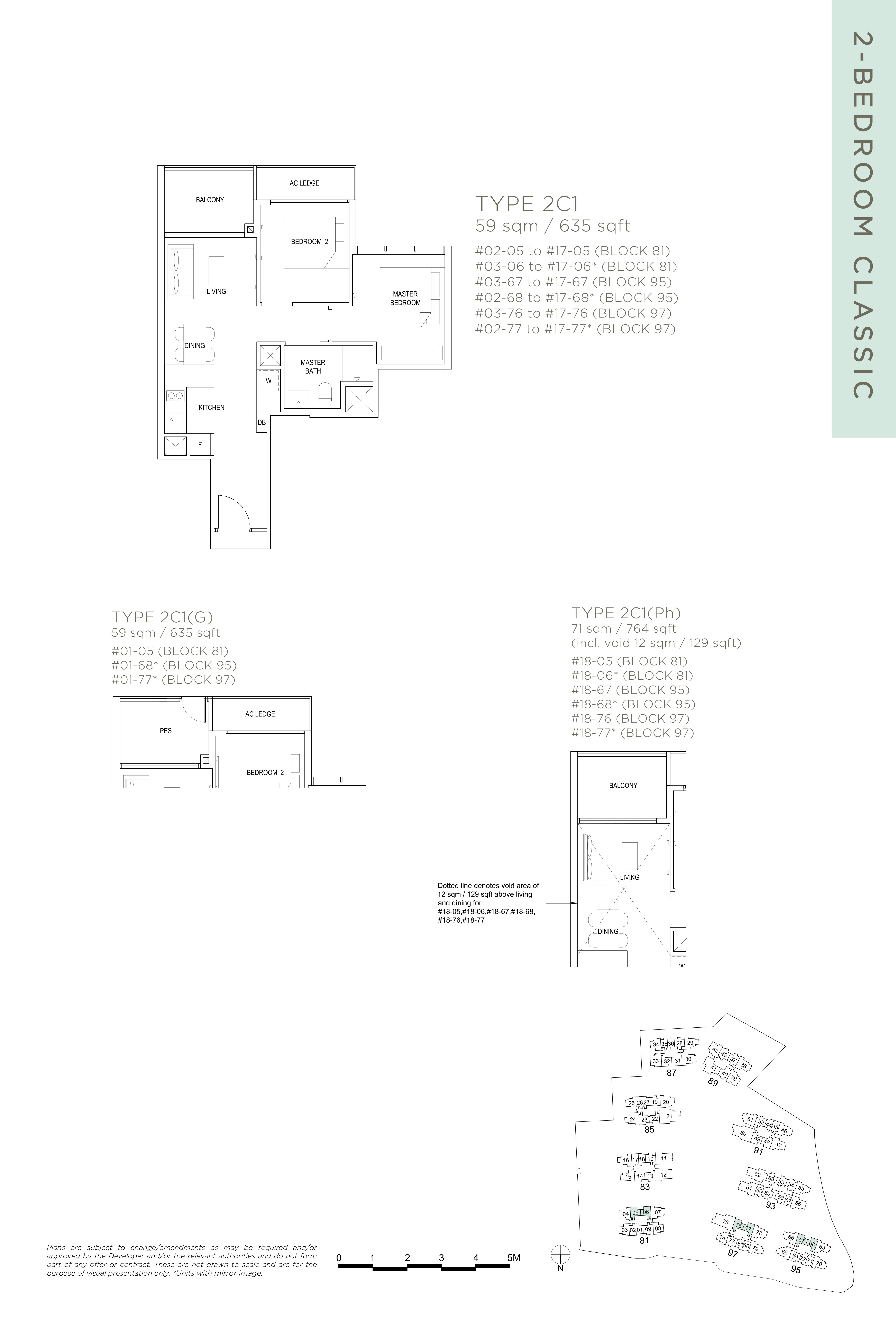 The Florence Residences 2-bedroom 2卧房 -2C1