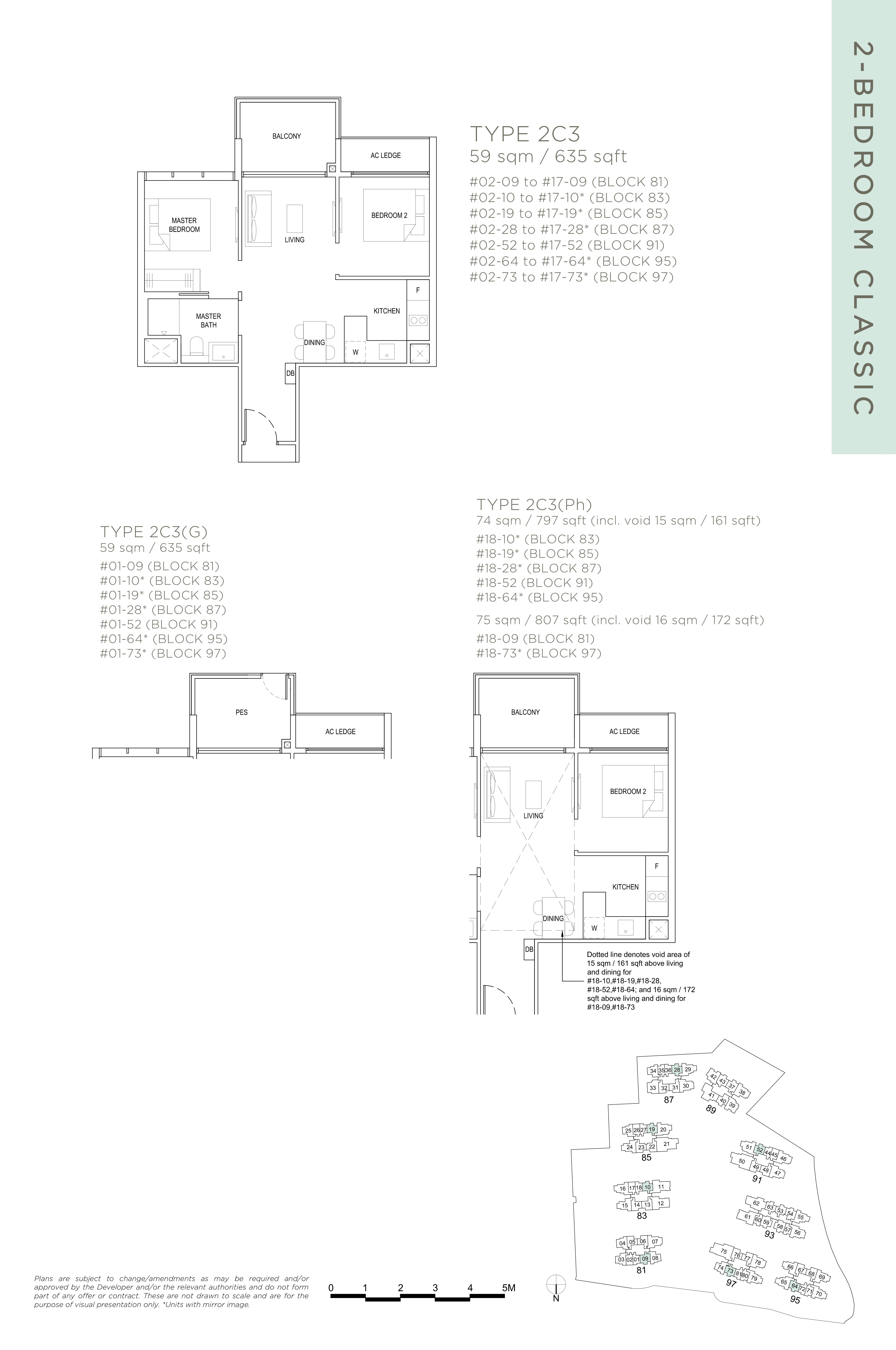 The Florence Residences 2-bedroom 2卧房 -2C3
