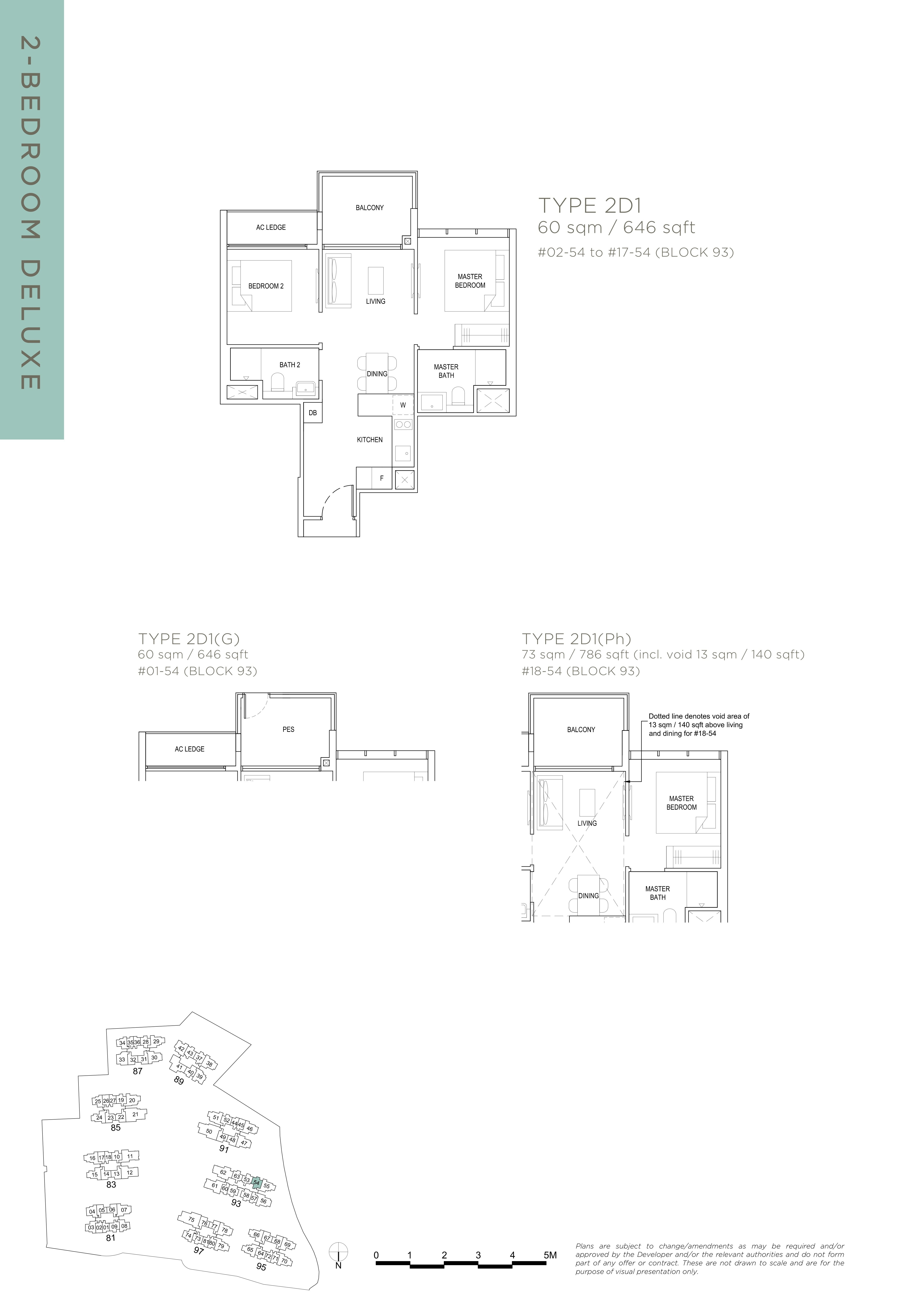 The Florence Residences 2-bedroom 2卧房 -2D1