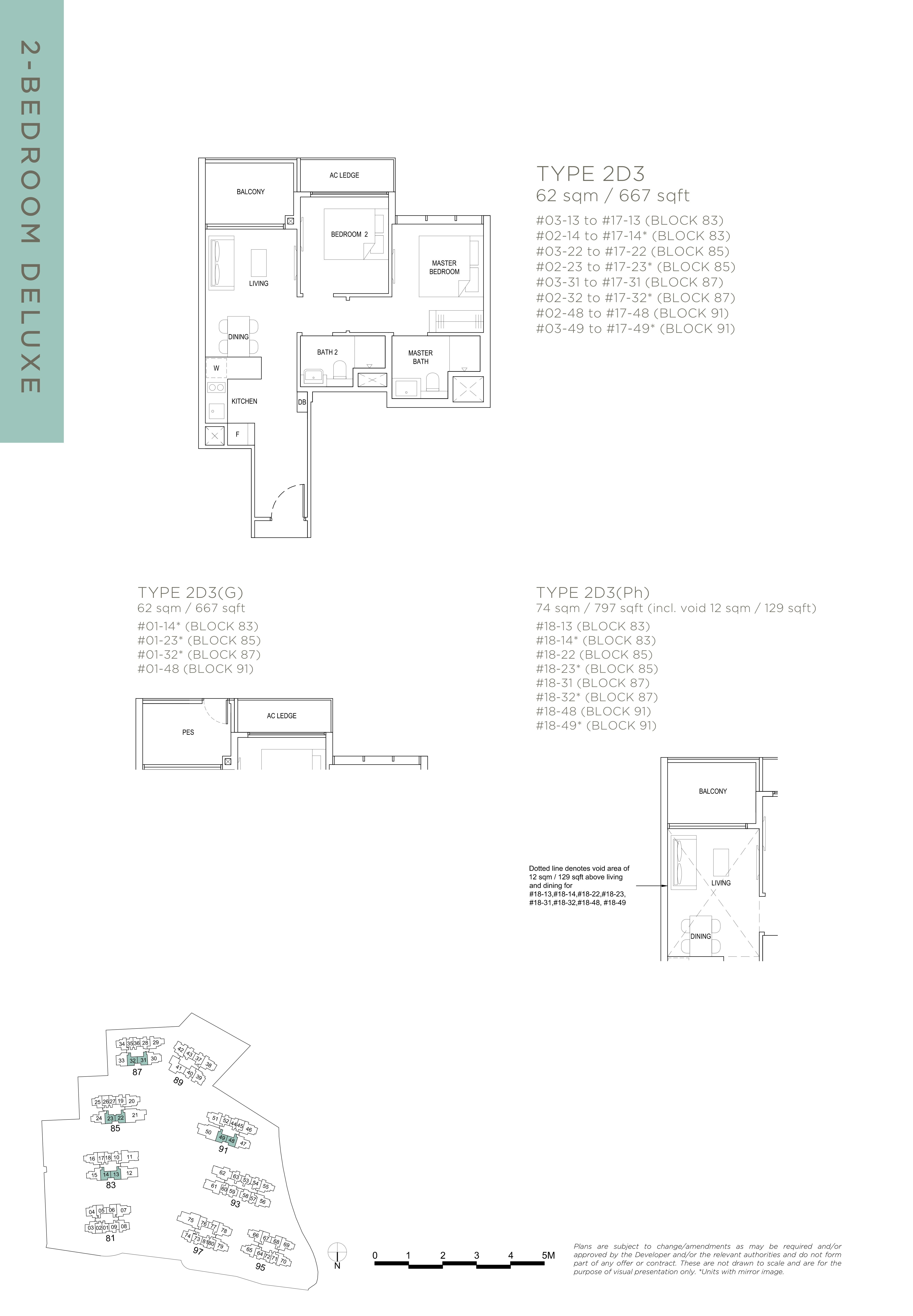 The Florence Residences 2-bedroom 2卧房 -2D3