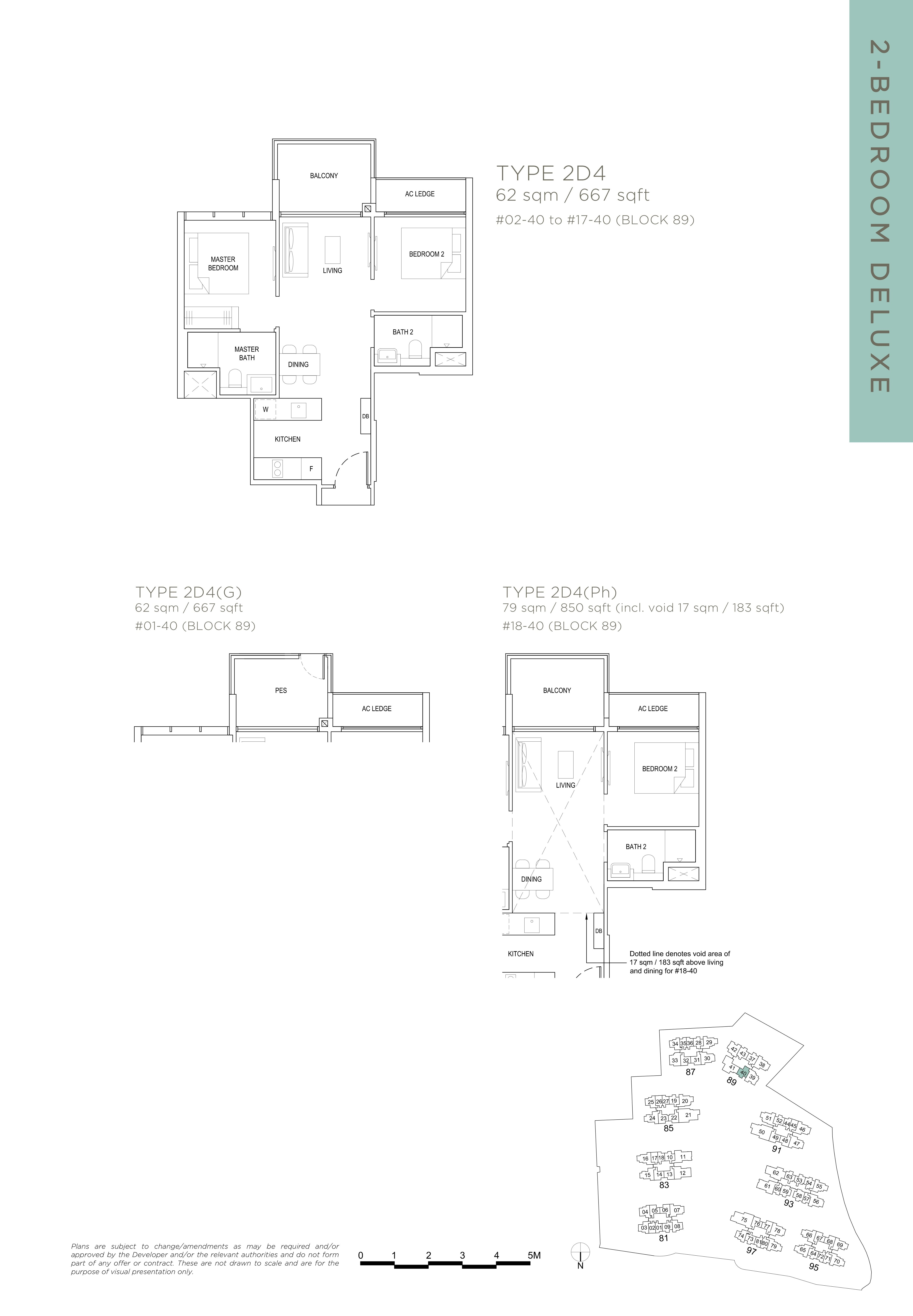 The Florence Residences 2-bedroom 2卧房 -2D4