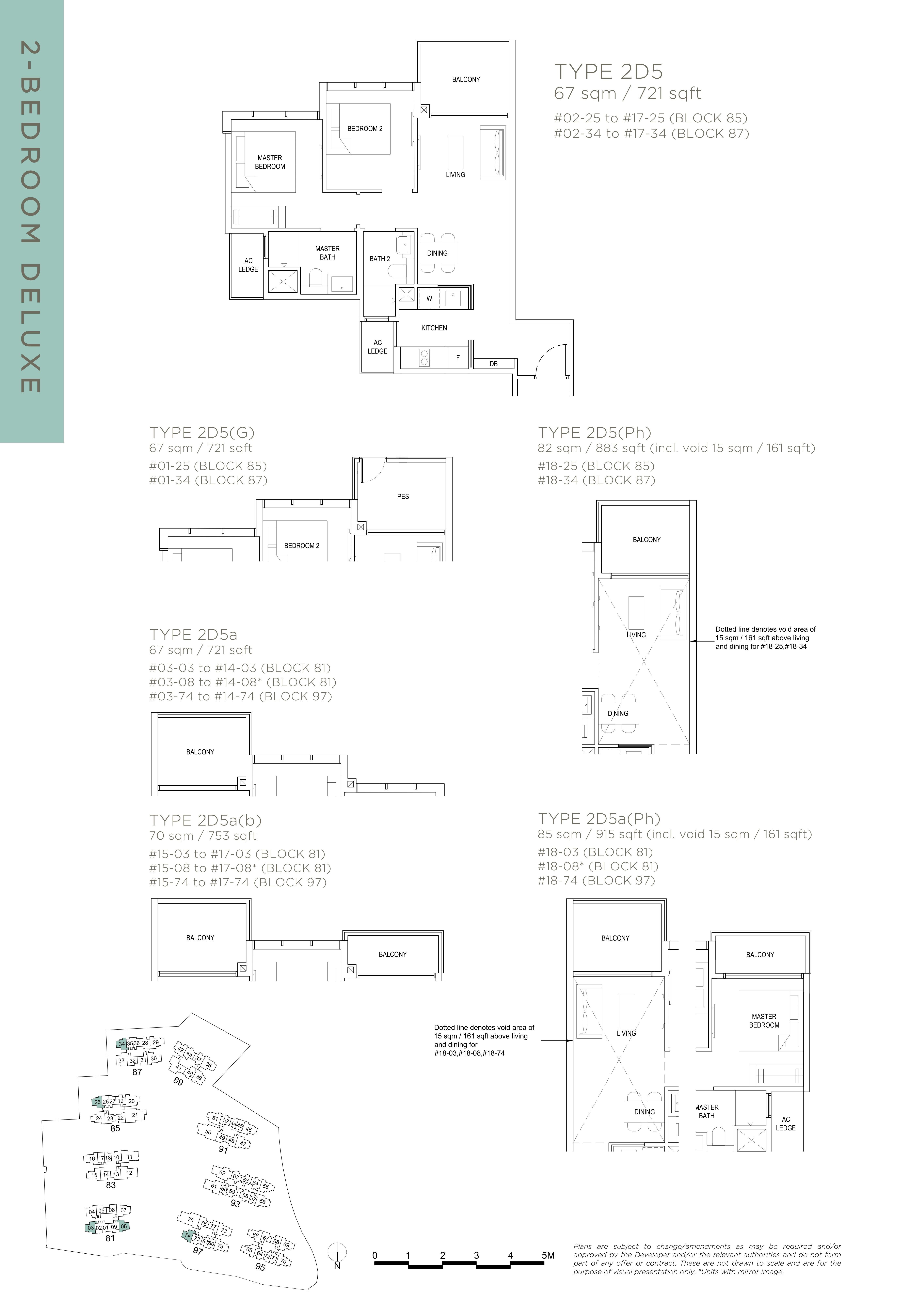 The Florence Residences 2-bedroom 2卧房 -2D5