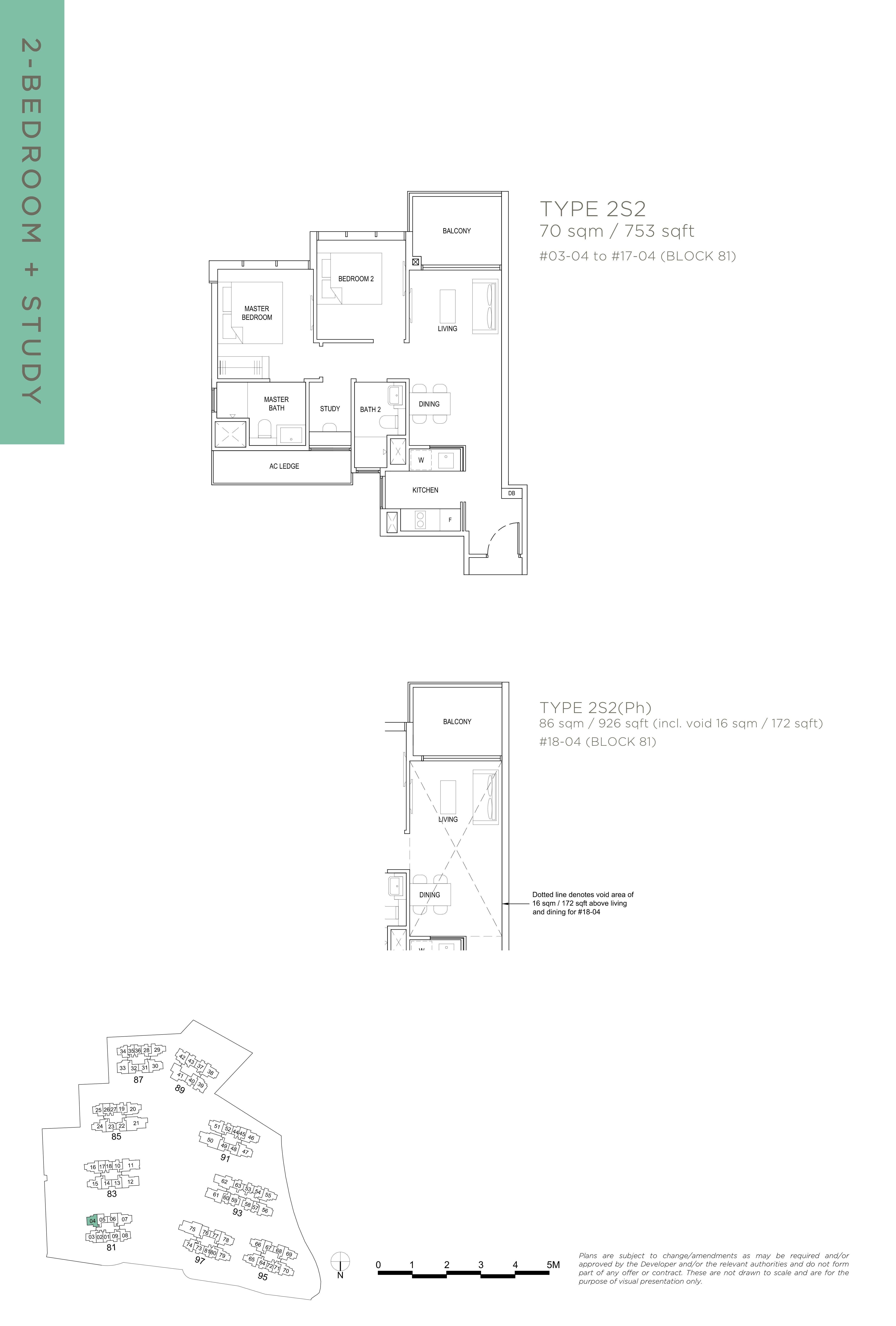 The Florence Residences 2-bedroom study 2卧房 书房-2S2