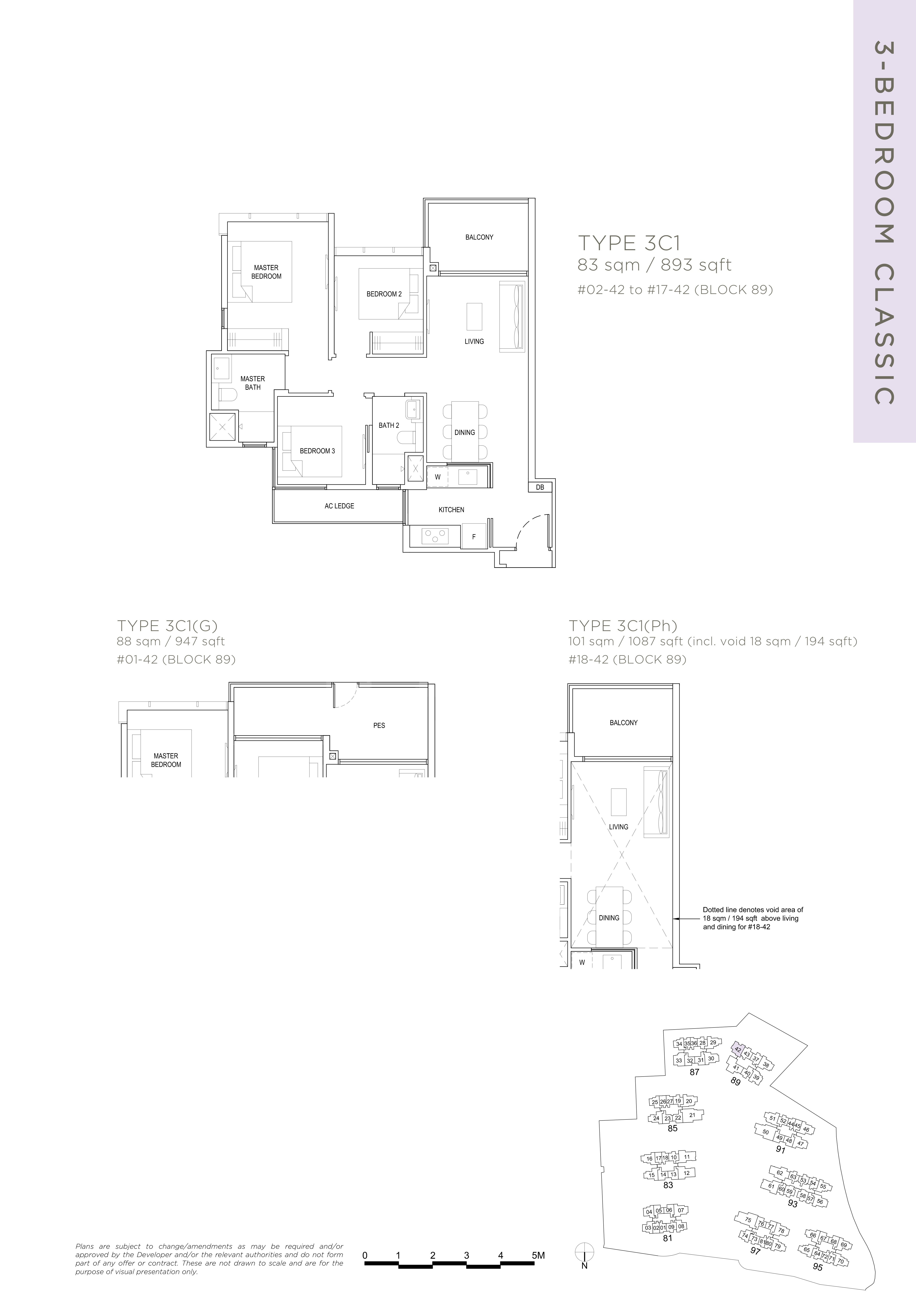 The Florence Residences 3-bedroom 3卧房 -3C1