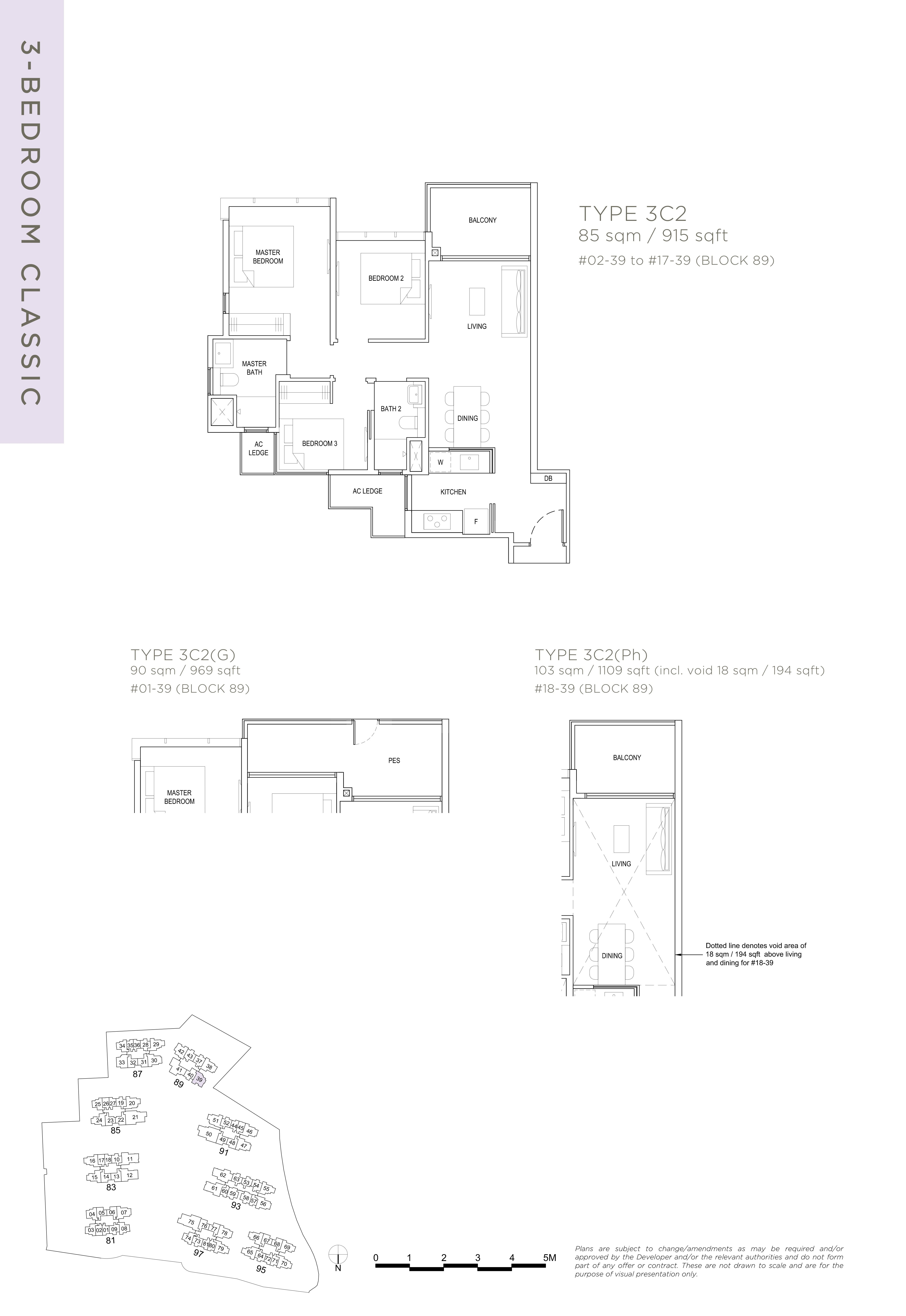 The Florence Residences 3-bedroom 3卧房 -3C2